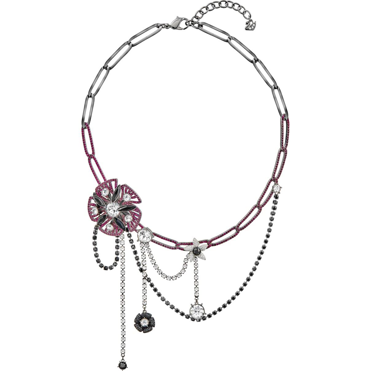 Swarovski Magician Necklace, Multi-colored, Ruthenium plated