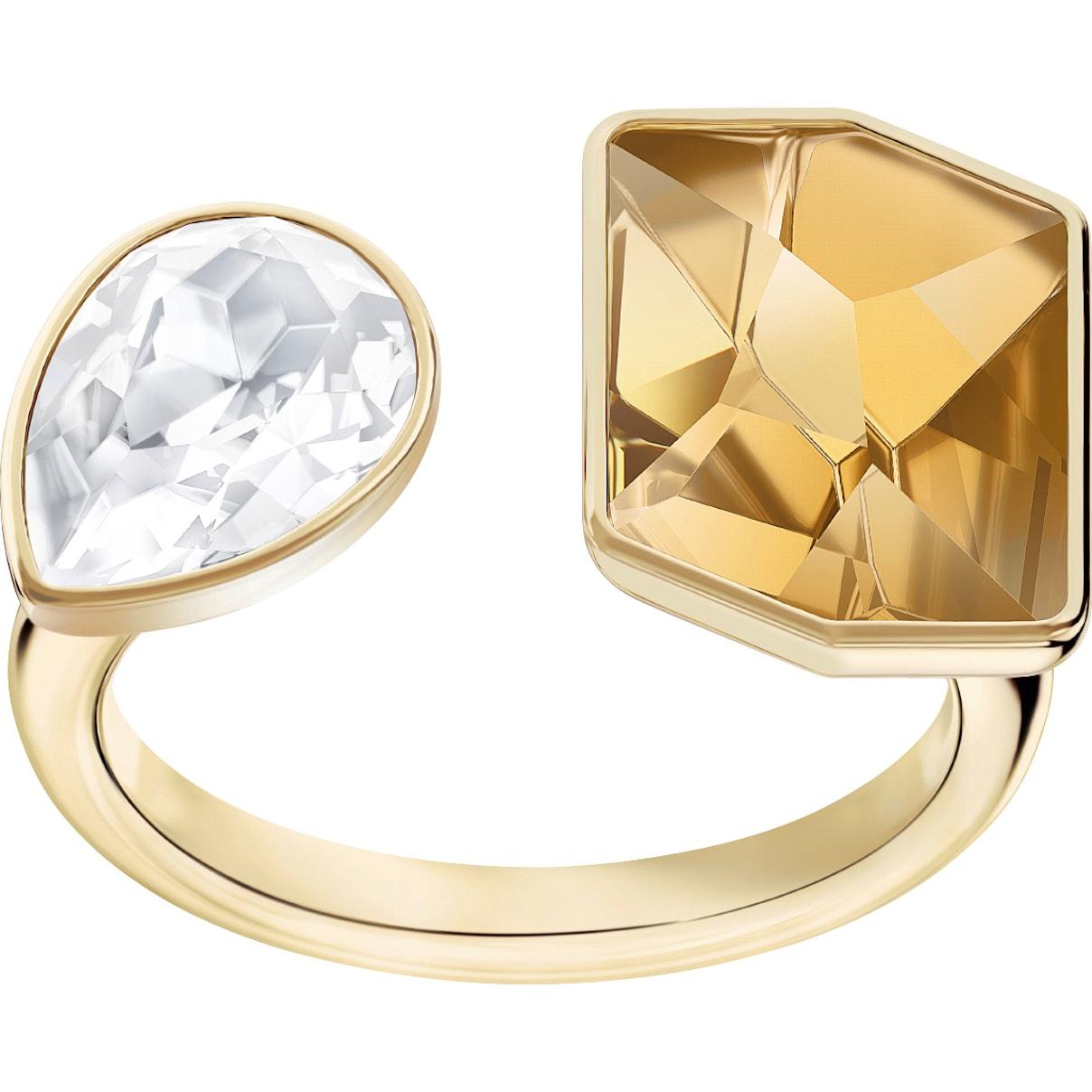 Swarovski Prisma Motif Ring, Golden, Gold-tone plated