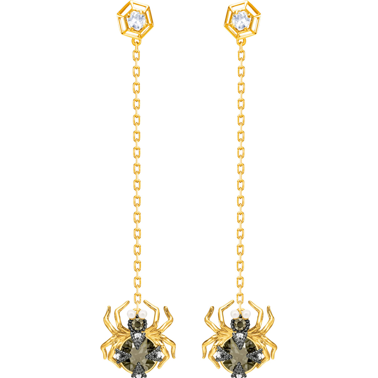 Swarovski Magnetic Pierced Earrings, Multi-colored, Mixed metal finish
