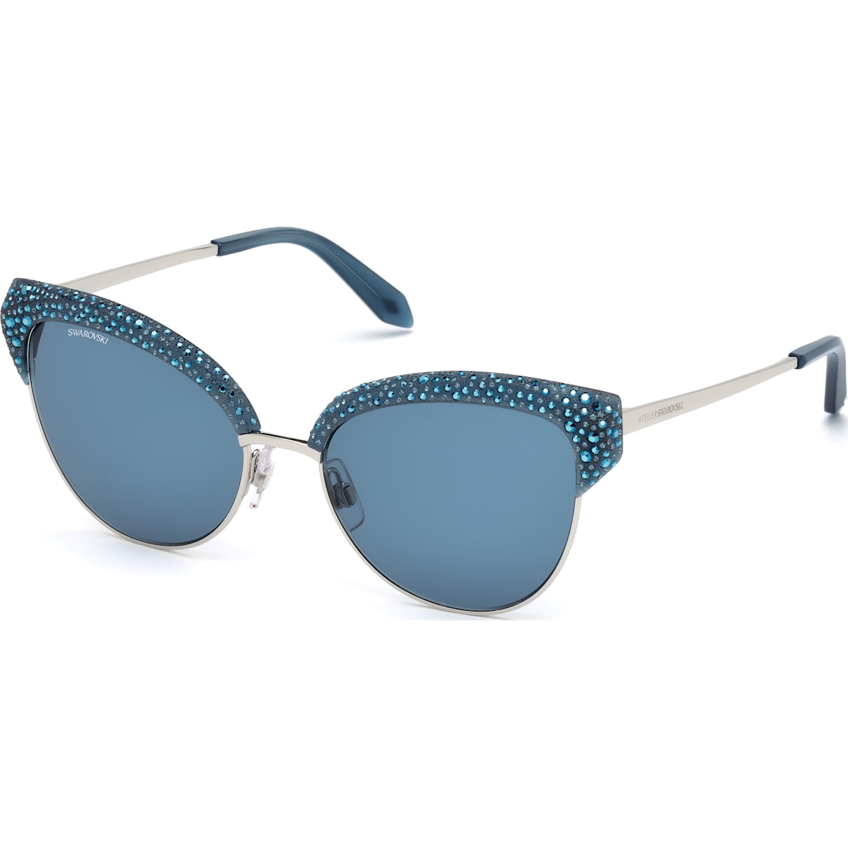 Swarovski Moselle Cat Eye Sunglasses, SK164-P 90X, Opal Blue