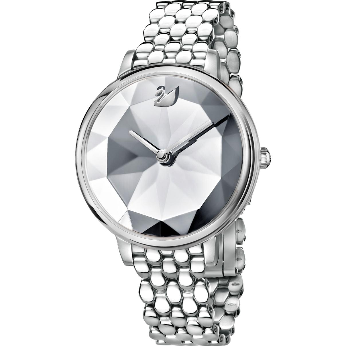 Swarovski Crystal Lake Watch, Metal bracelet, White, Stainless steel
