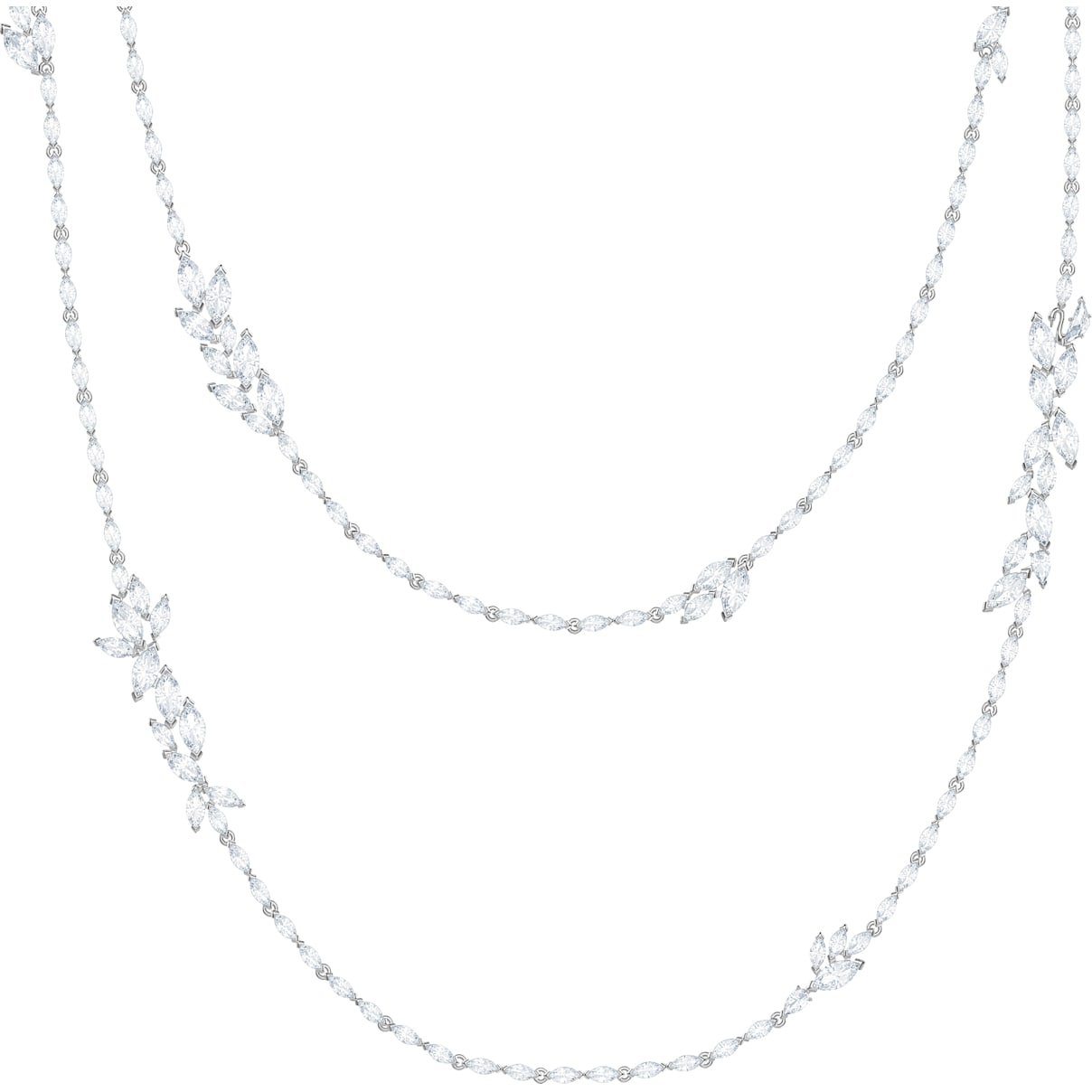 Swarovski Louison Strandage, White, Rhodium plated
