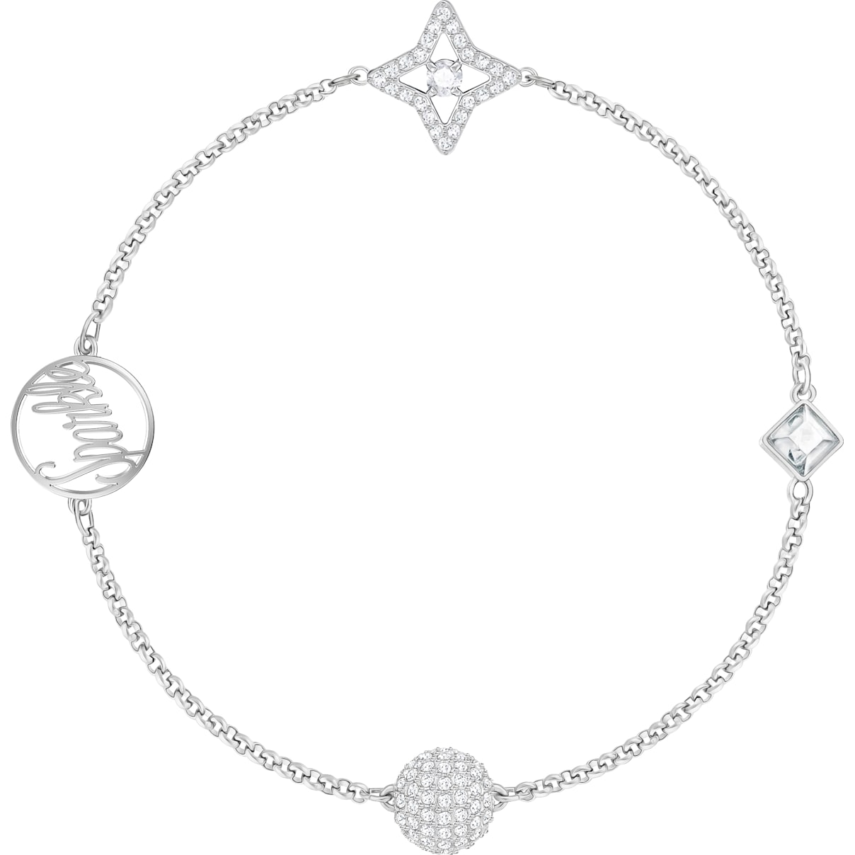 Swarovski Swarovski Remix Collection Star Strand, White, Rhodium plated