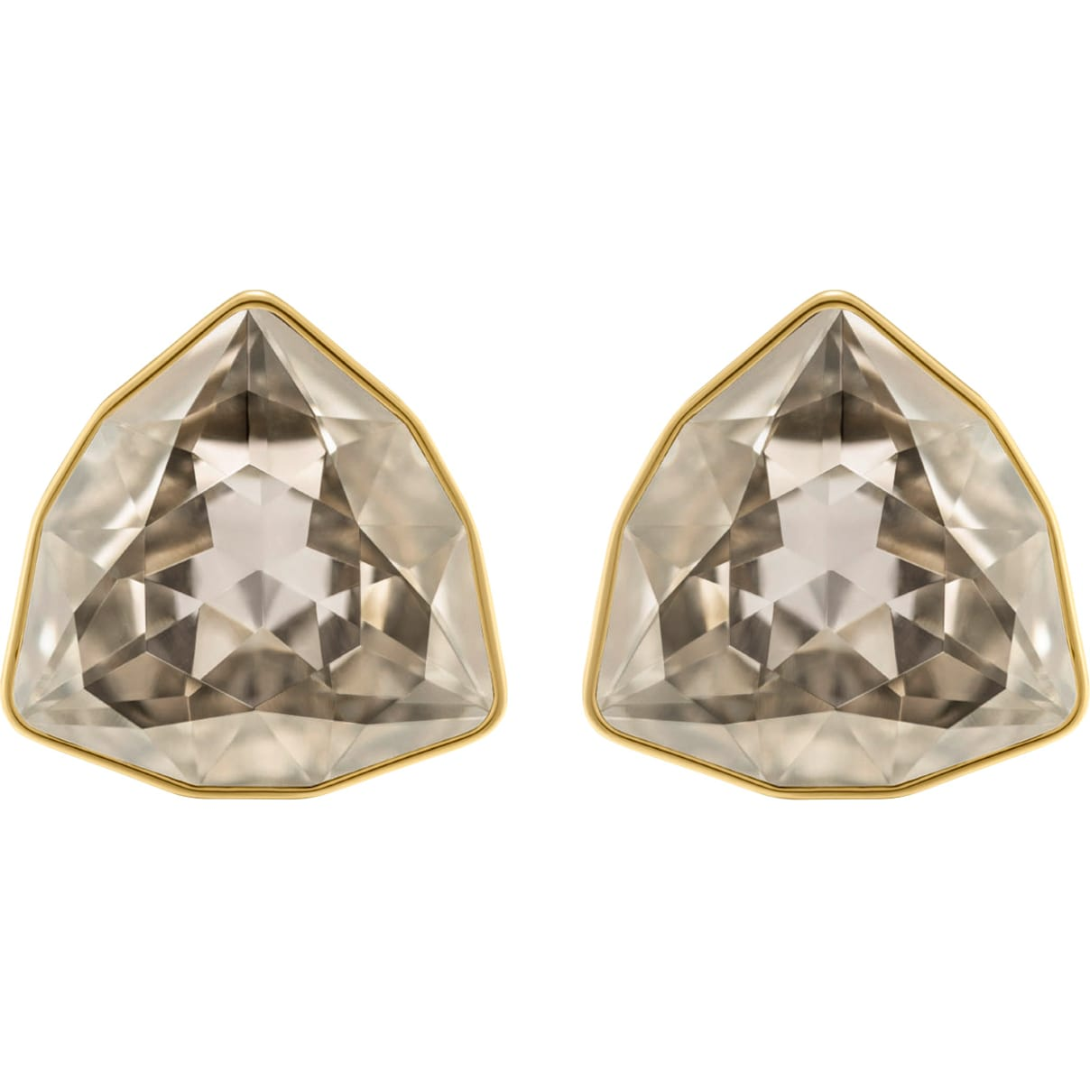 Swarovski March Fox Stud Pierced Earrings, Gray, Gold-tone plated