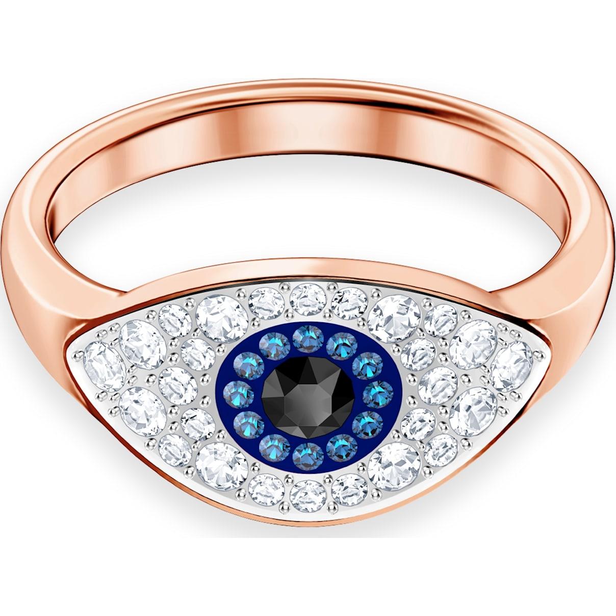 Swarovski Swarovski Symbolic Evil Eye Ring, Multi-colored, Rose-gold tone plated