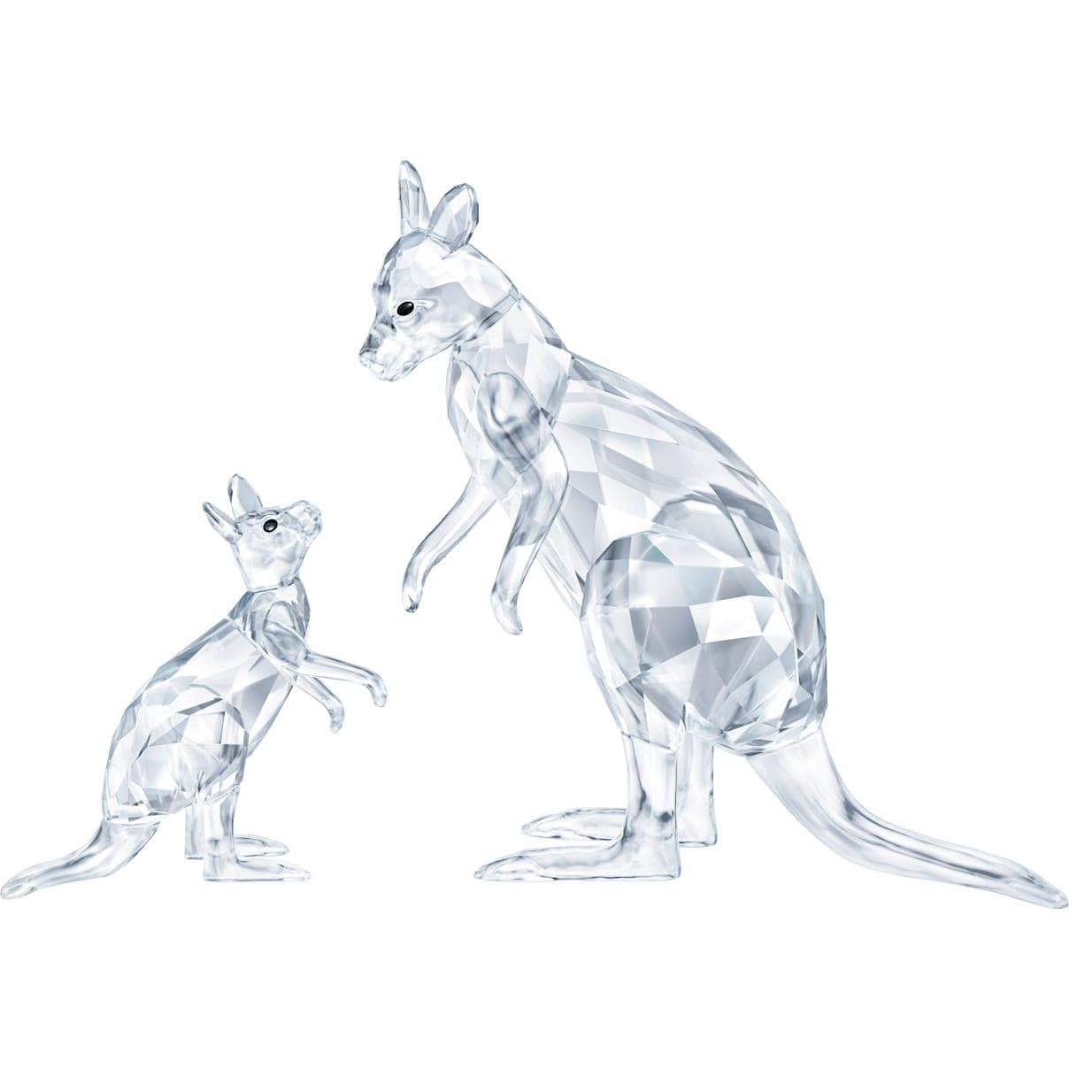 Swarovski Kangaroo Mother with Baby