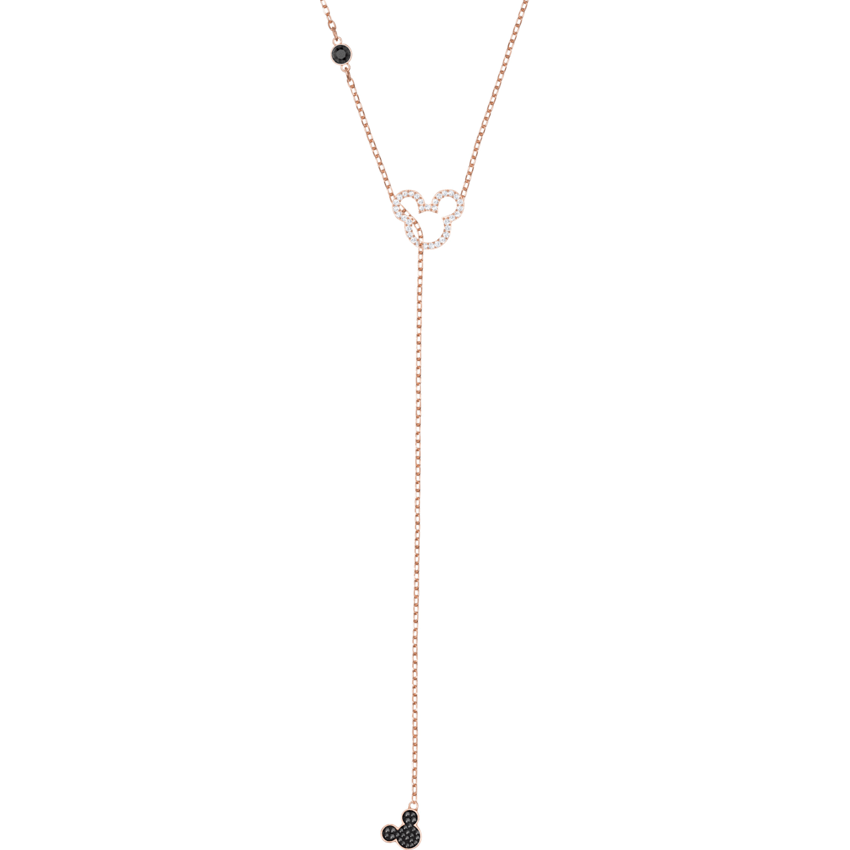 Swarovski Mickey & Minnie Y Necklace, Multi-colored, Rose-gold tone plated