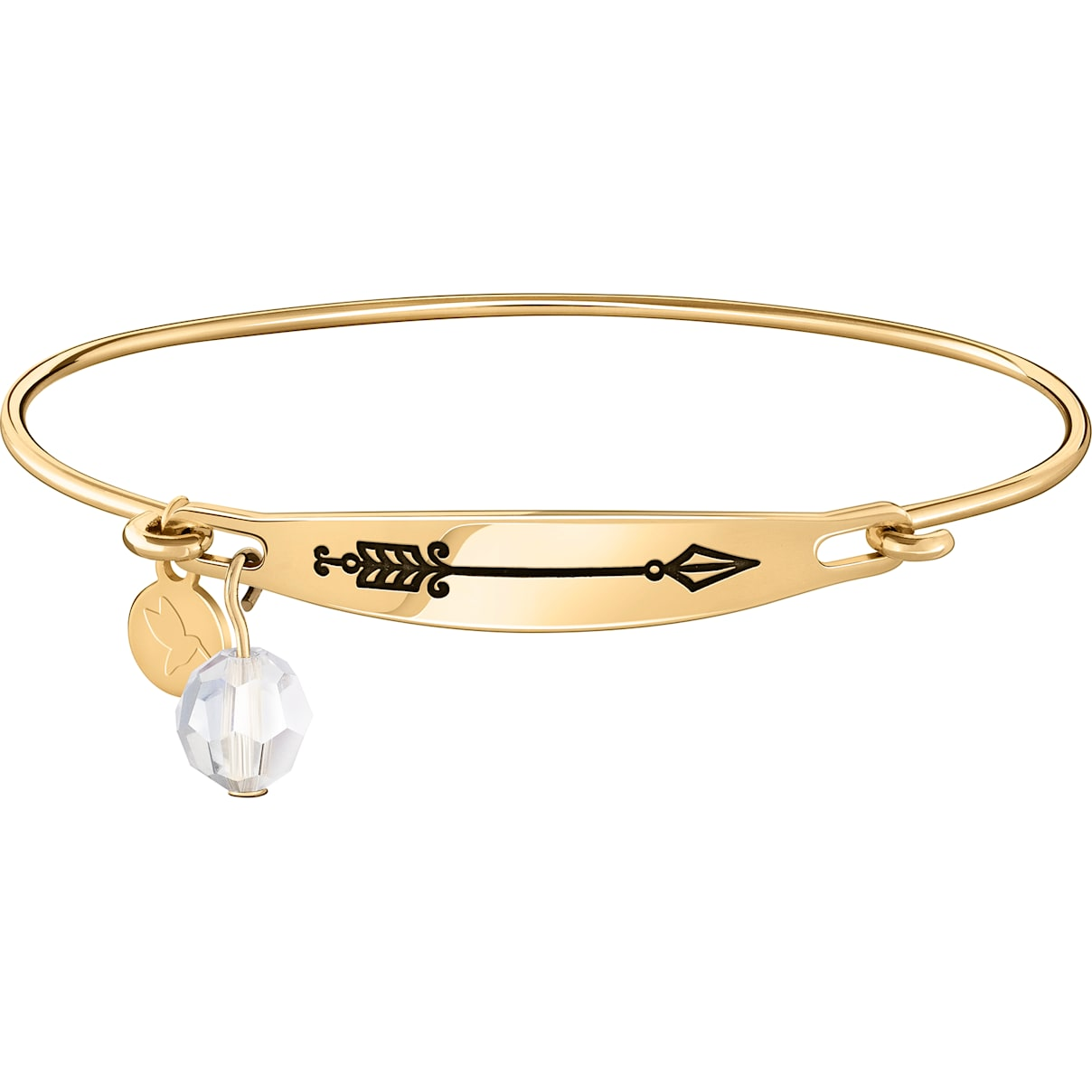Swarovski Arrow Id Bangle - Gold