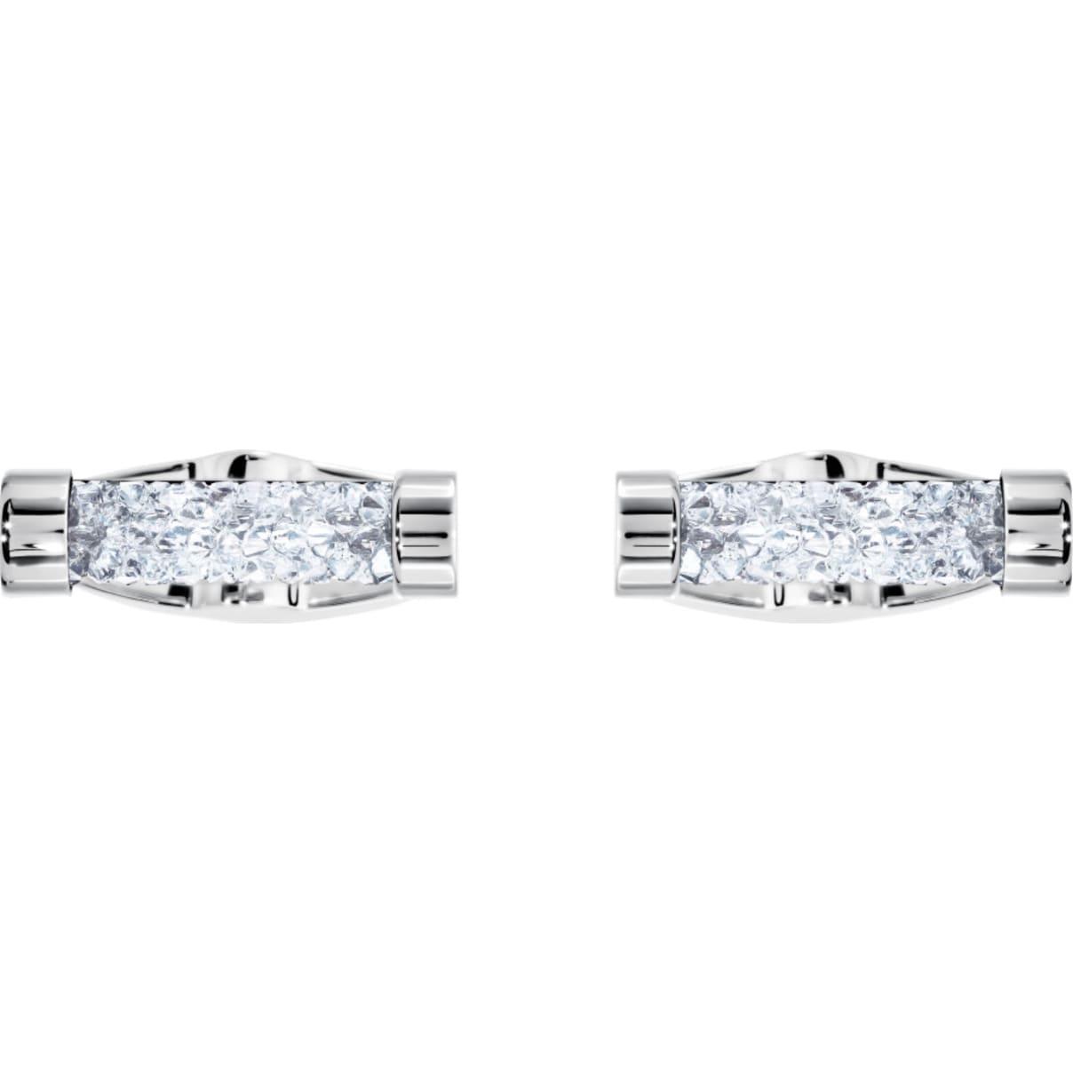 Swarovski Crystaldust Cuff Links, White, Stainless steel