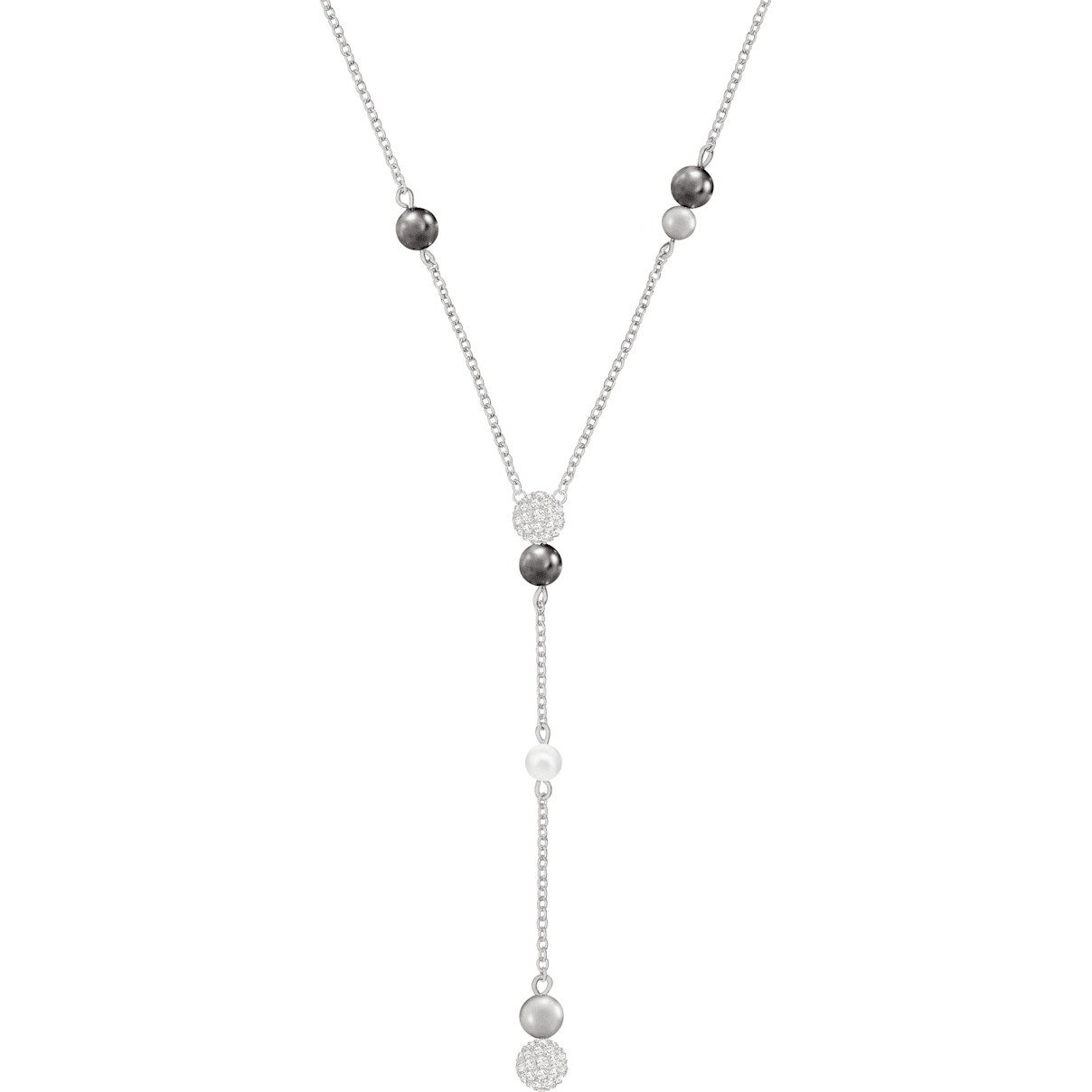 Swarovski Canopy Y Necklace, Multi-colored, Rhodium plated