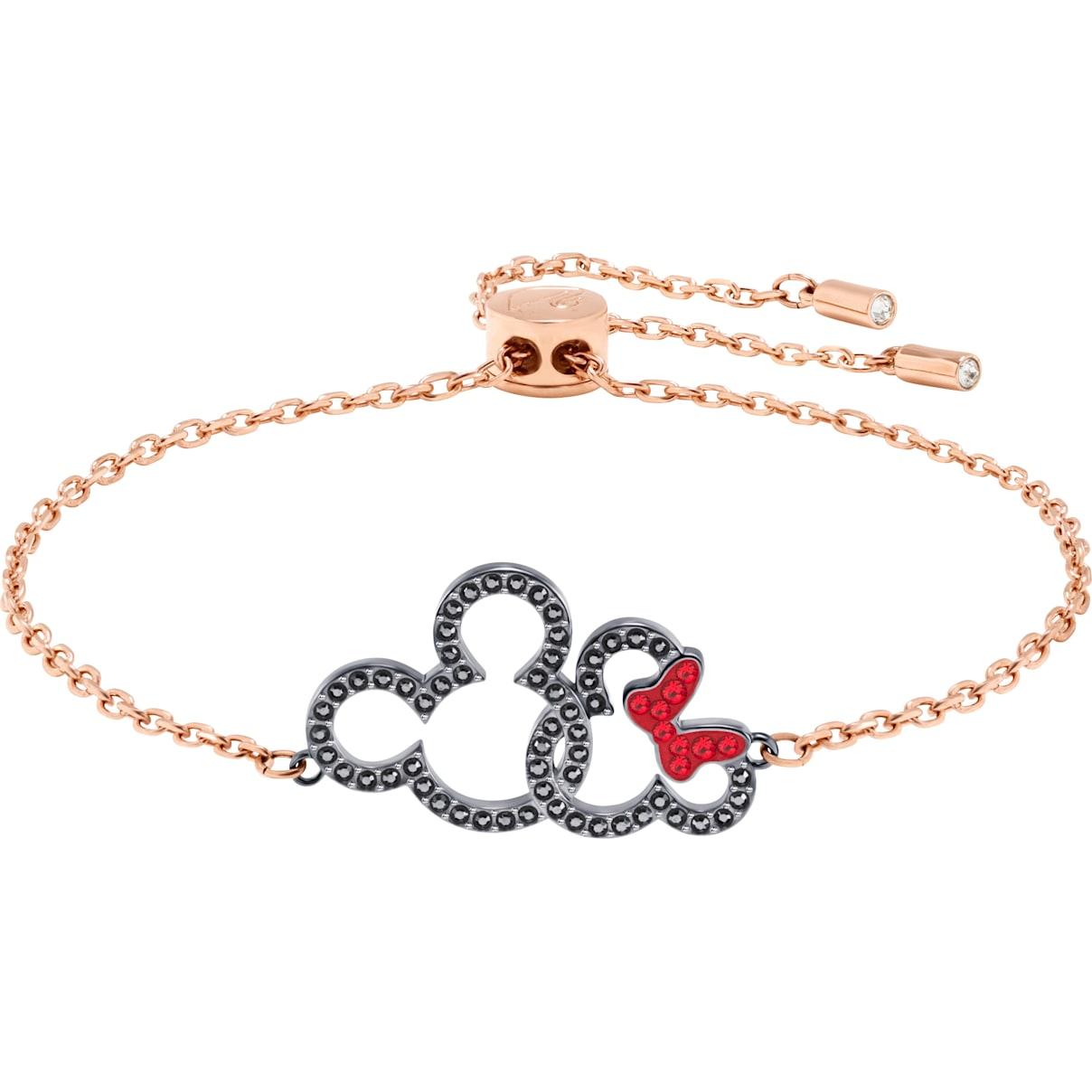 Swarovski Mickey & Minnie Bracelet, Multi-colored, Mixed metal finish