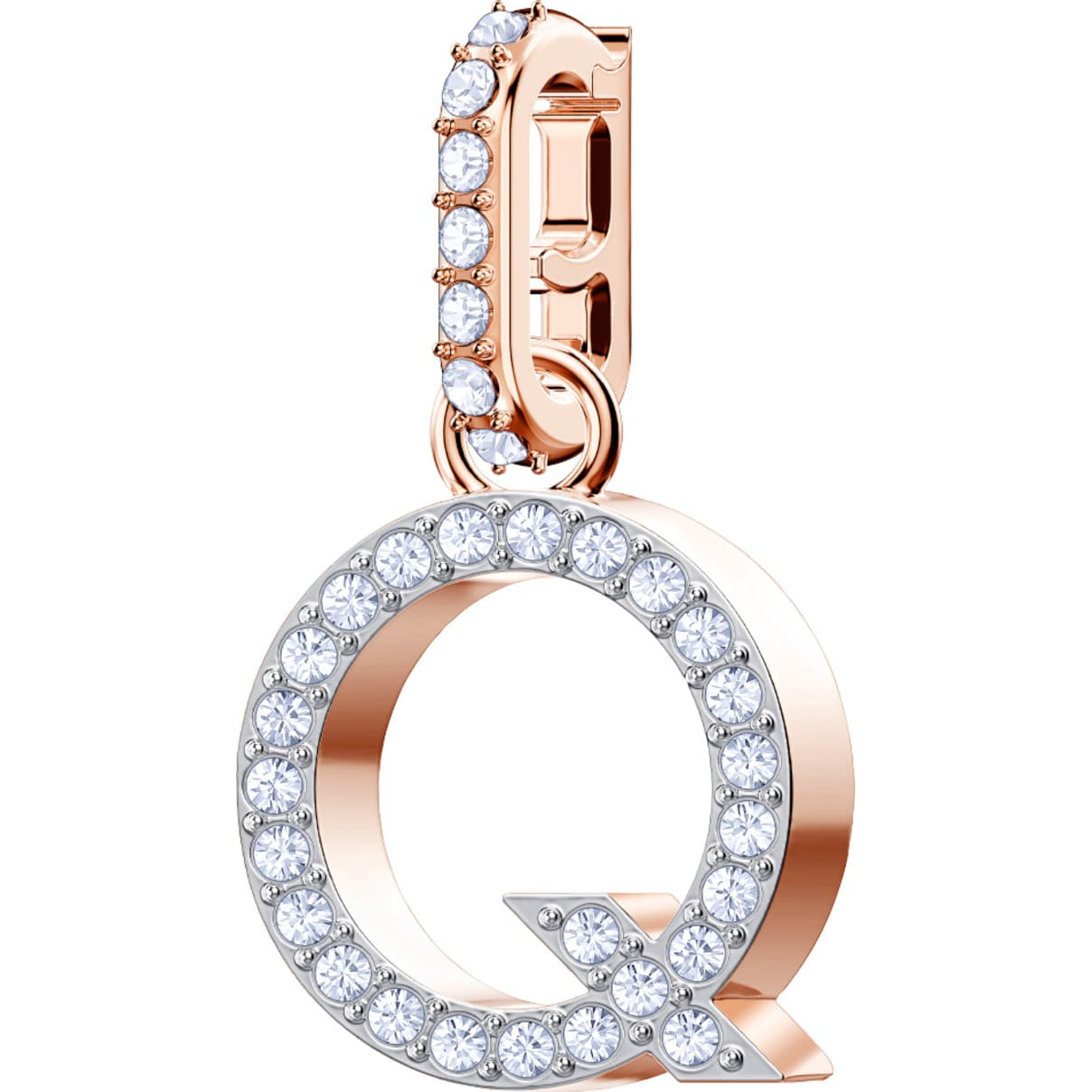 Swarovski Swarovski Remix Collection Charm Q, White, Rose-gold tone plated