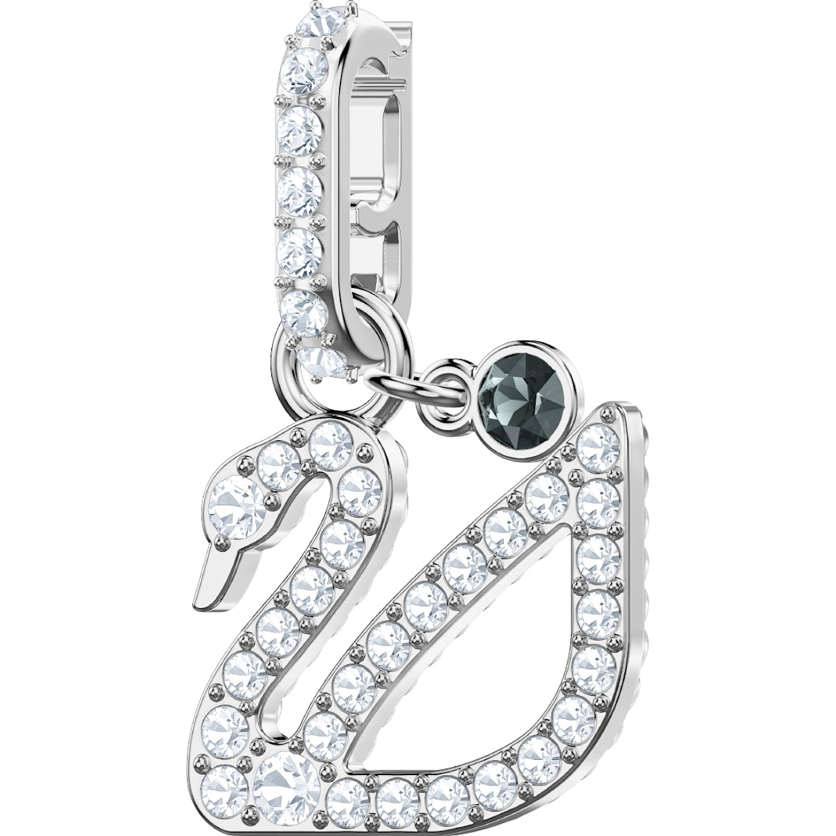 Swarovski Swarovski Remix Collection Swan Charm, White, Rhodium plated
