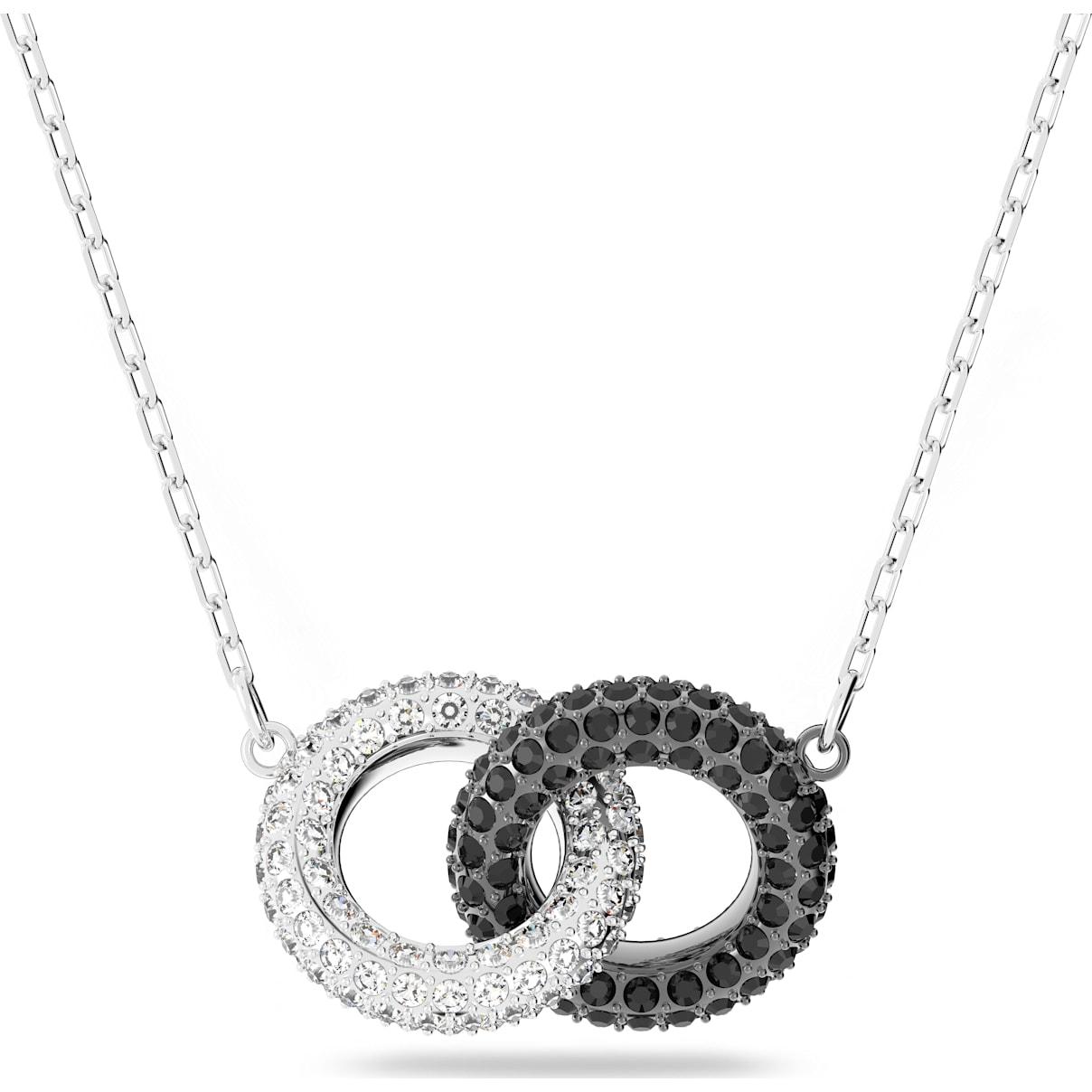 Swarovski Stone Necklace, Multi-colored, Rhodium plated