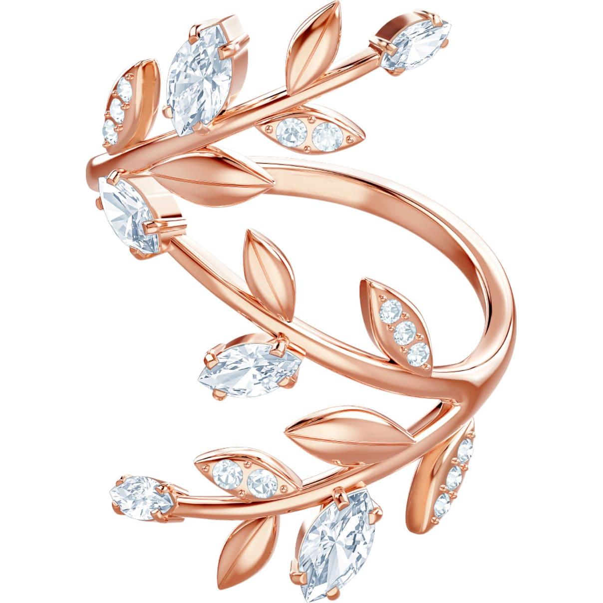 Swarovski Mayfly Ring, White, Rose-gold tone plated