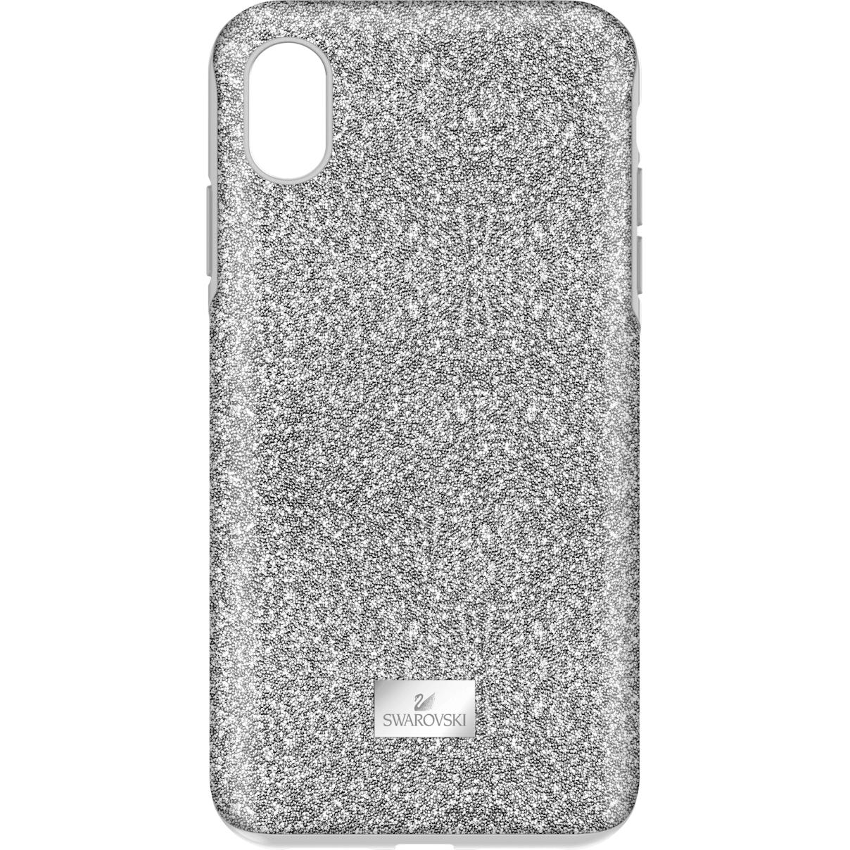 Swarovski High Smartphone Case with Bumper, iPhone® XS Max, Silver tone