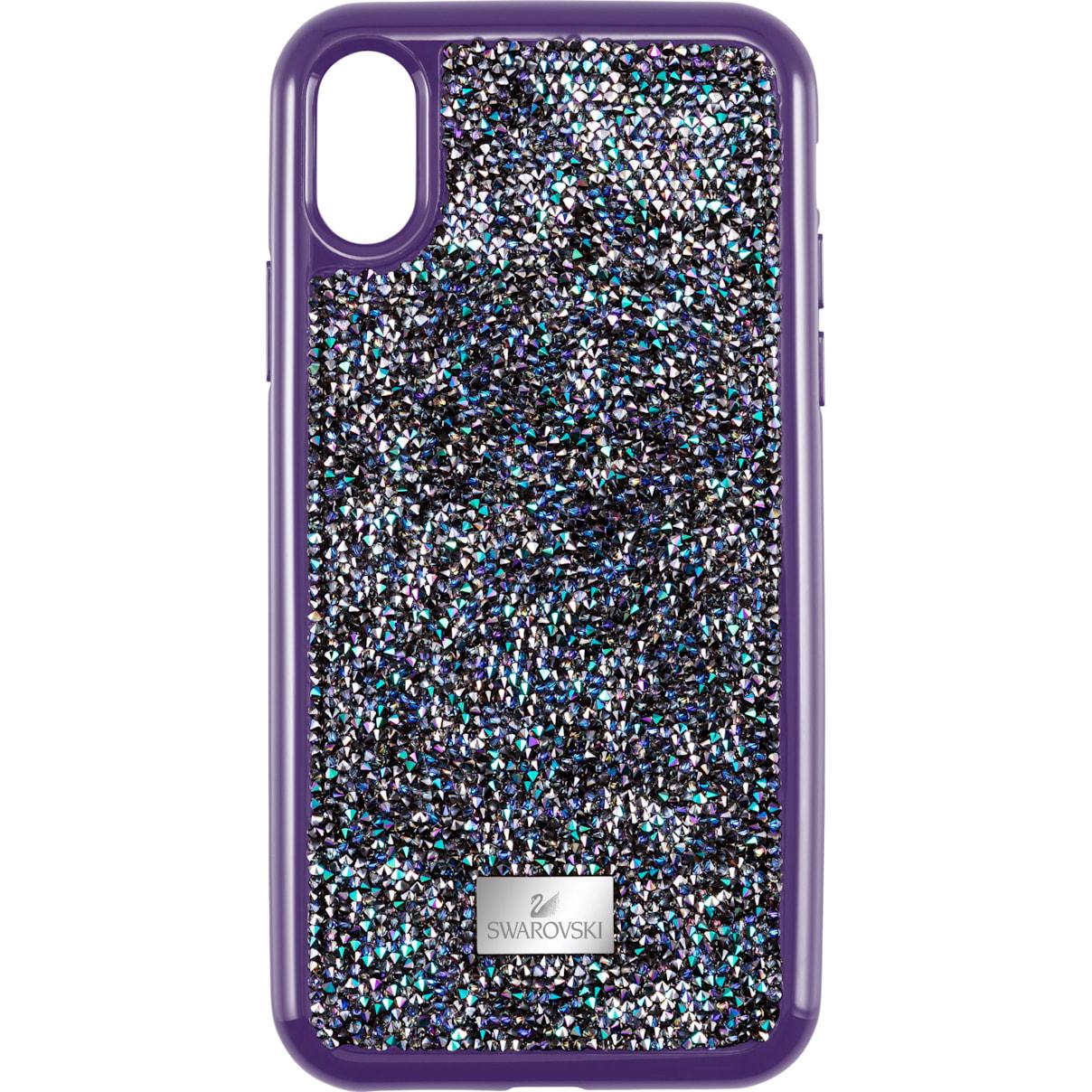 Swarovski Glam Rock Smartphone case with Bumper, iPhone® X/XS, Purple