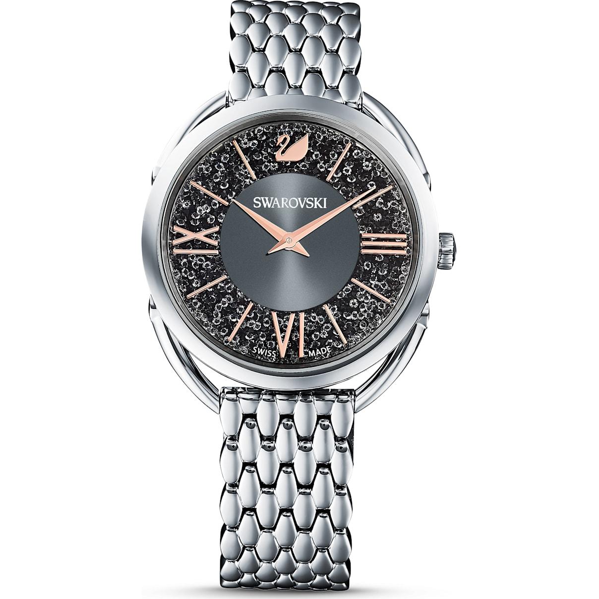 Swarovski Crystalline Glam Watch, Metal bracelet, Gray, Stainless steel