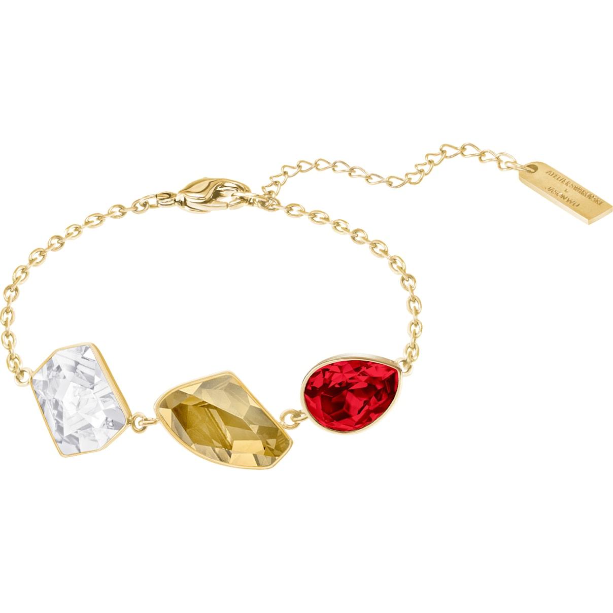 Swarovski Prisma Bracelet, Multi-colored, Gold-tone plated