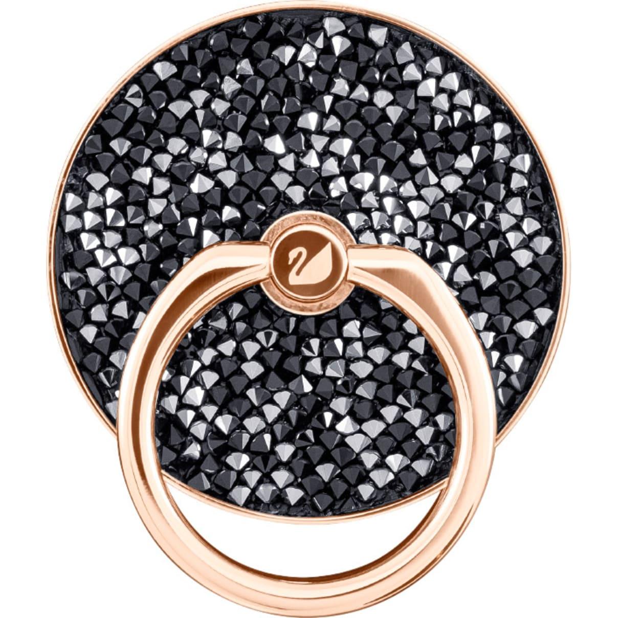 Swarovski Glam Rock Ring Sticker, Black, Mixed plating