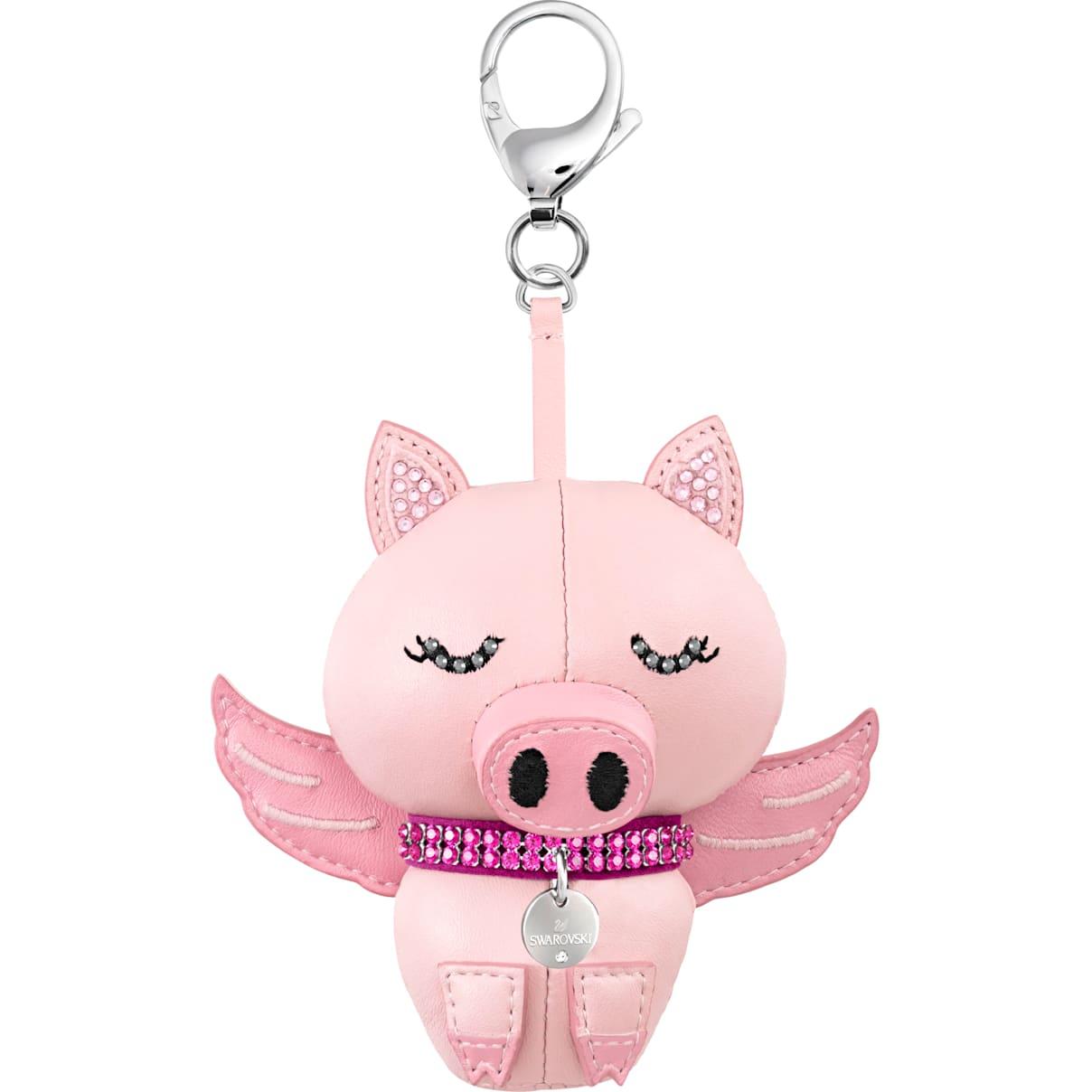 Swarovski Bu Bu Bag Charm, Pink, Rhodium plating