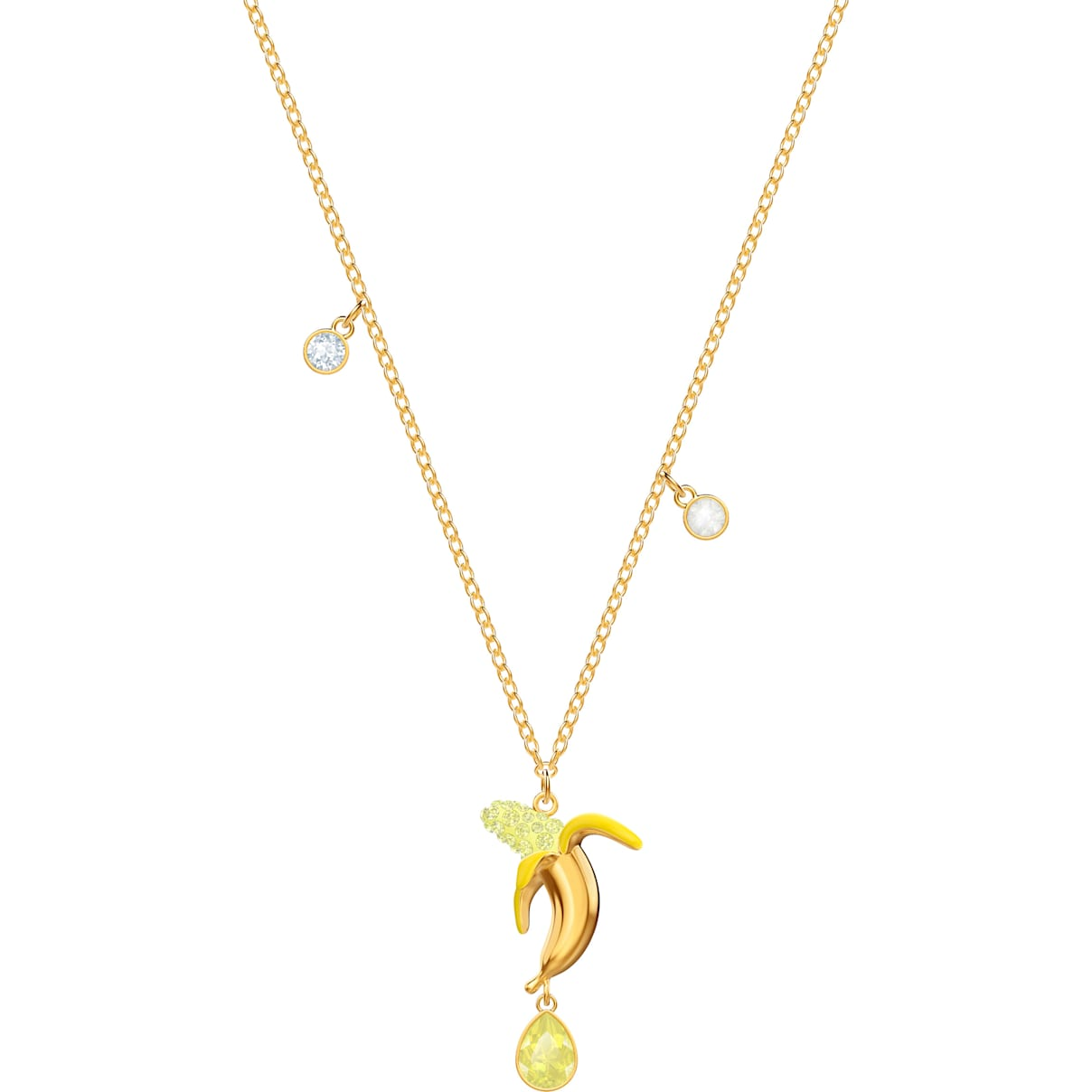 Swarovski No Regrets Banana Pendant, Multi-colored, Gold-tone plated