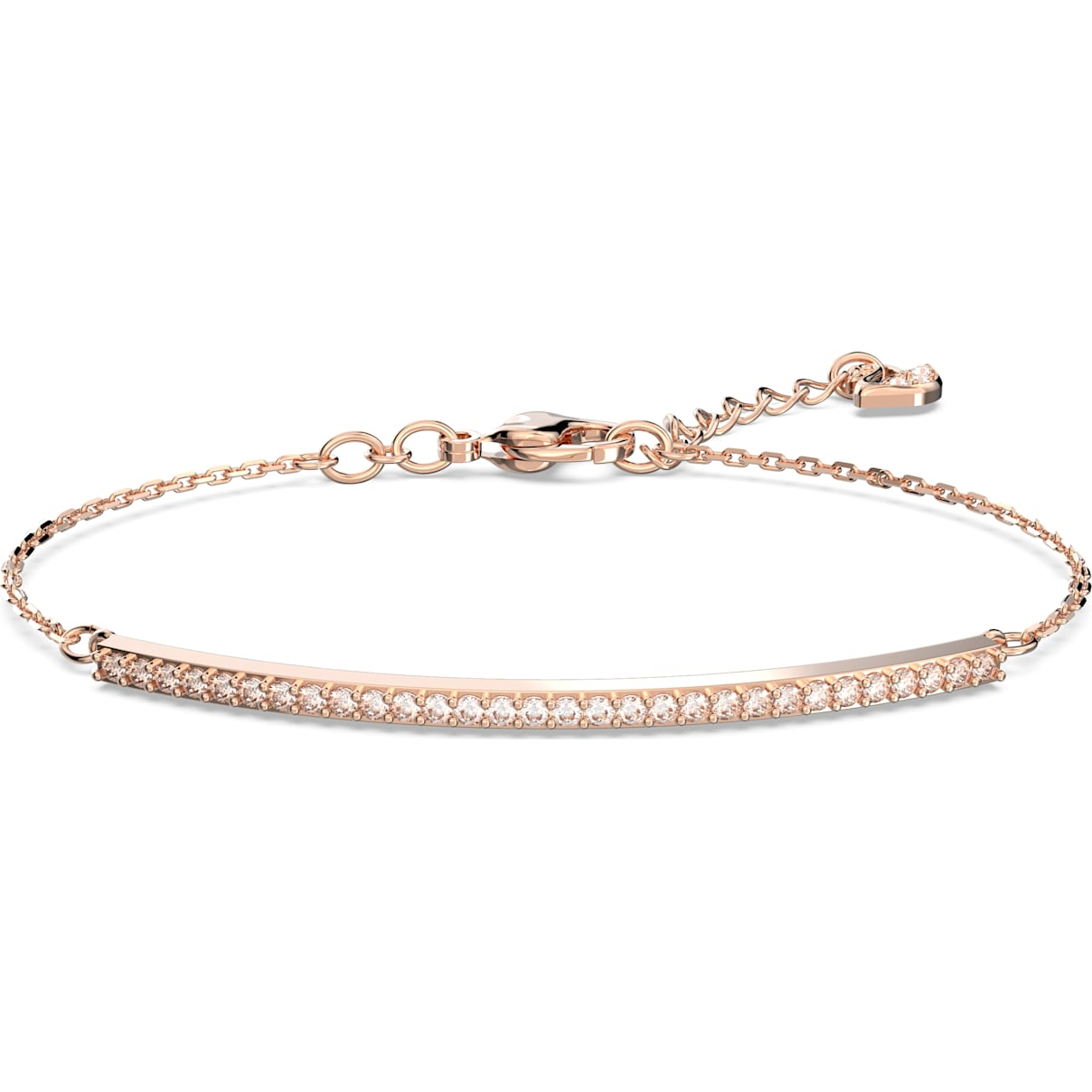 Swarovski Only Bracelet, White, Rose-gold tone plated