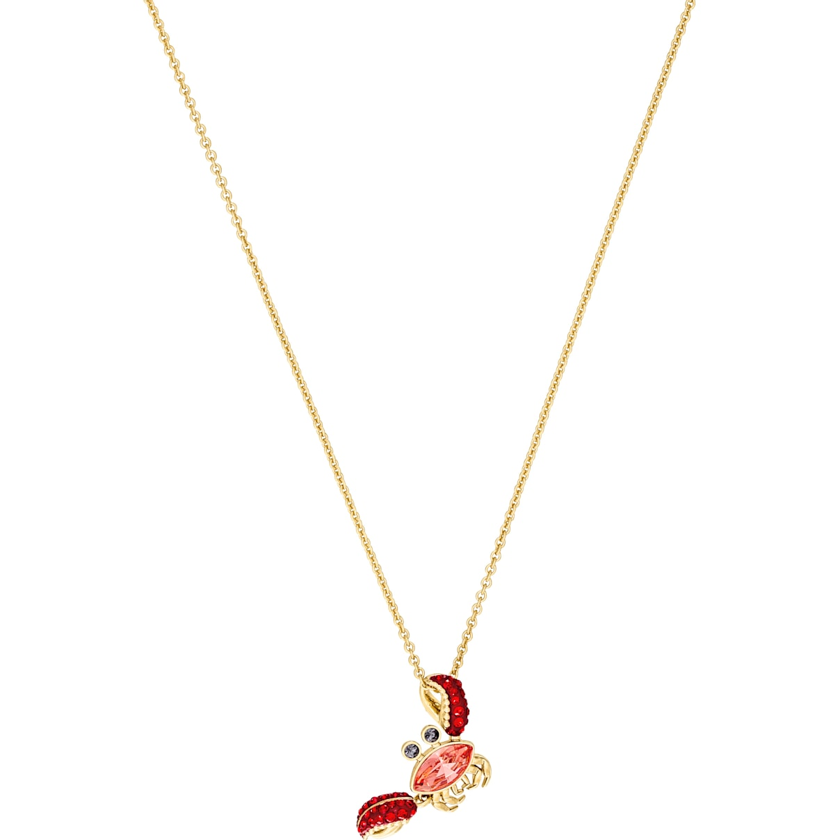 Swarovski Ocean Crab Pendant, Multi-colored, Gold-tone plated