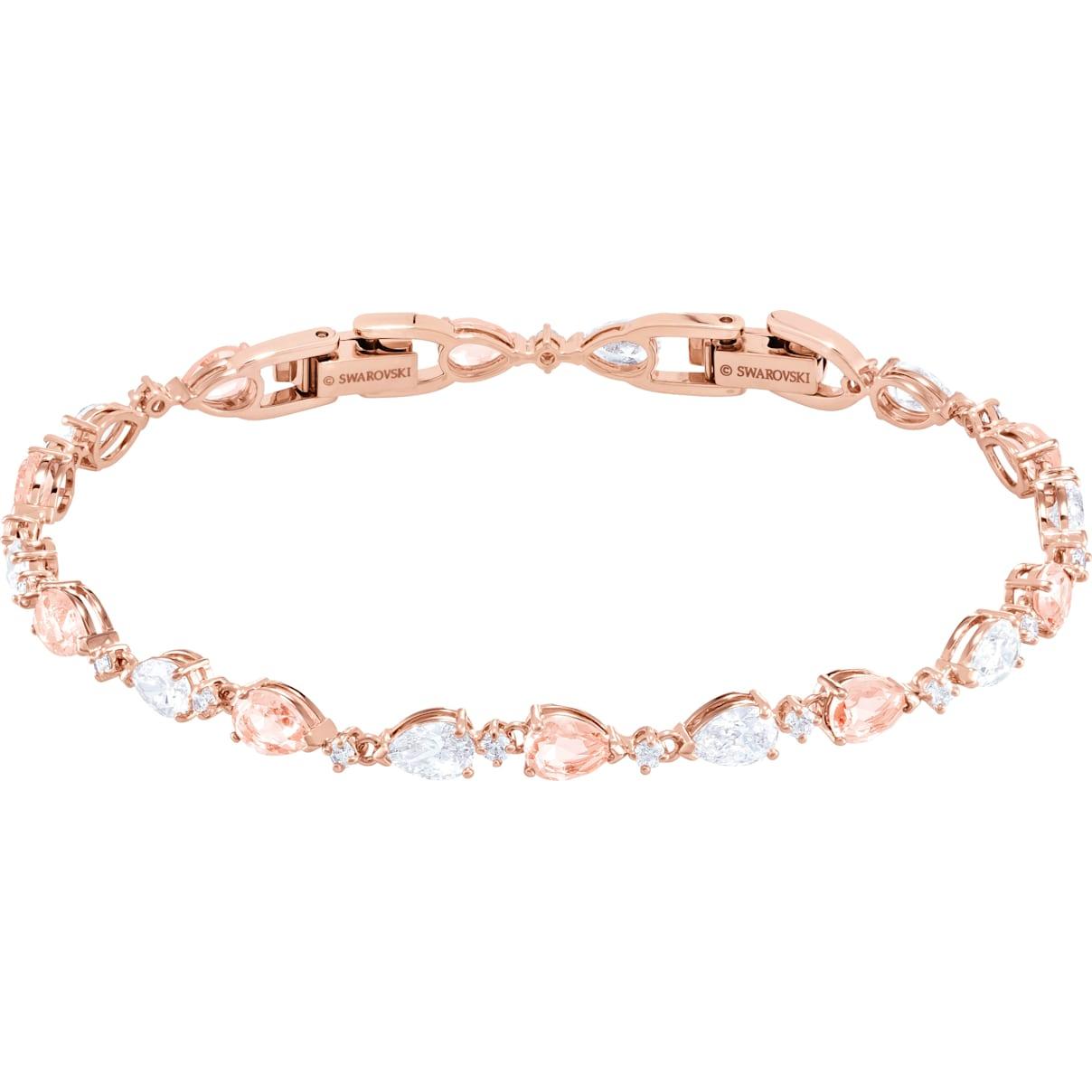 Swarovski Vintage Bracelet, Pink, Rose-gold tone plated