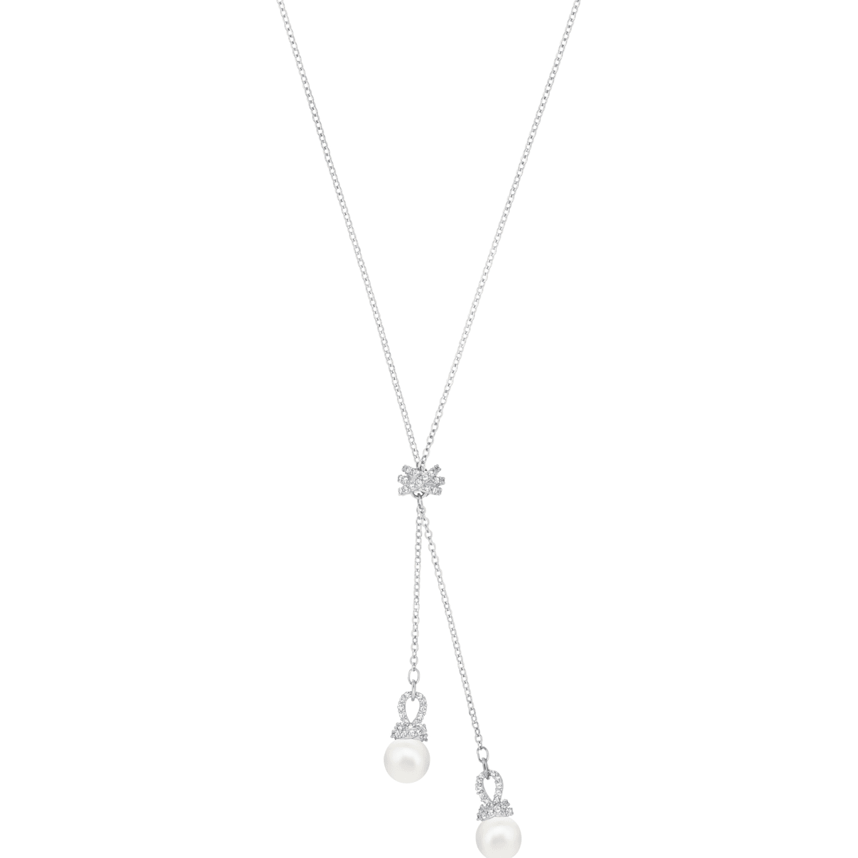 Swarovski Originally Y Necklace, White, Rhodium plated