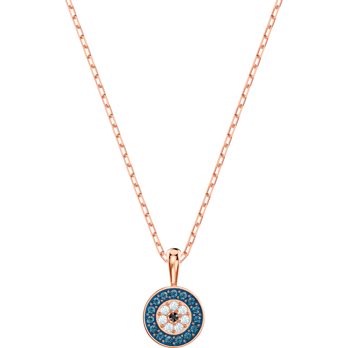 Swarovski Luckily Pendant, Multi-colored, Rose-gold tone plated