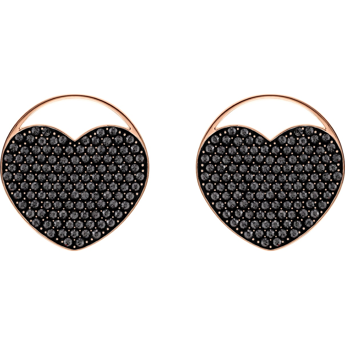Ginger Stud Pierced Earrings, Gray, Rose-gold tone plated