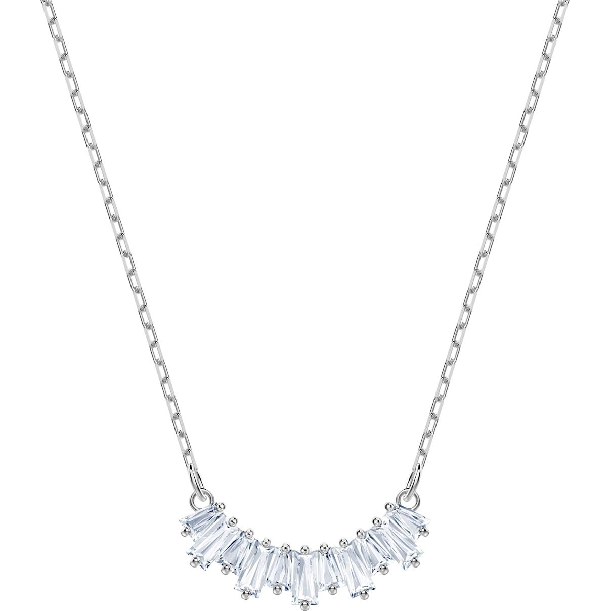 Swarovski Sunshine Necklace, White, Rhodium plated