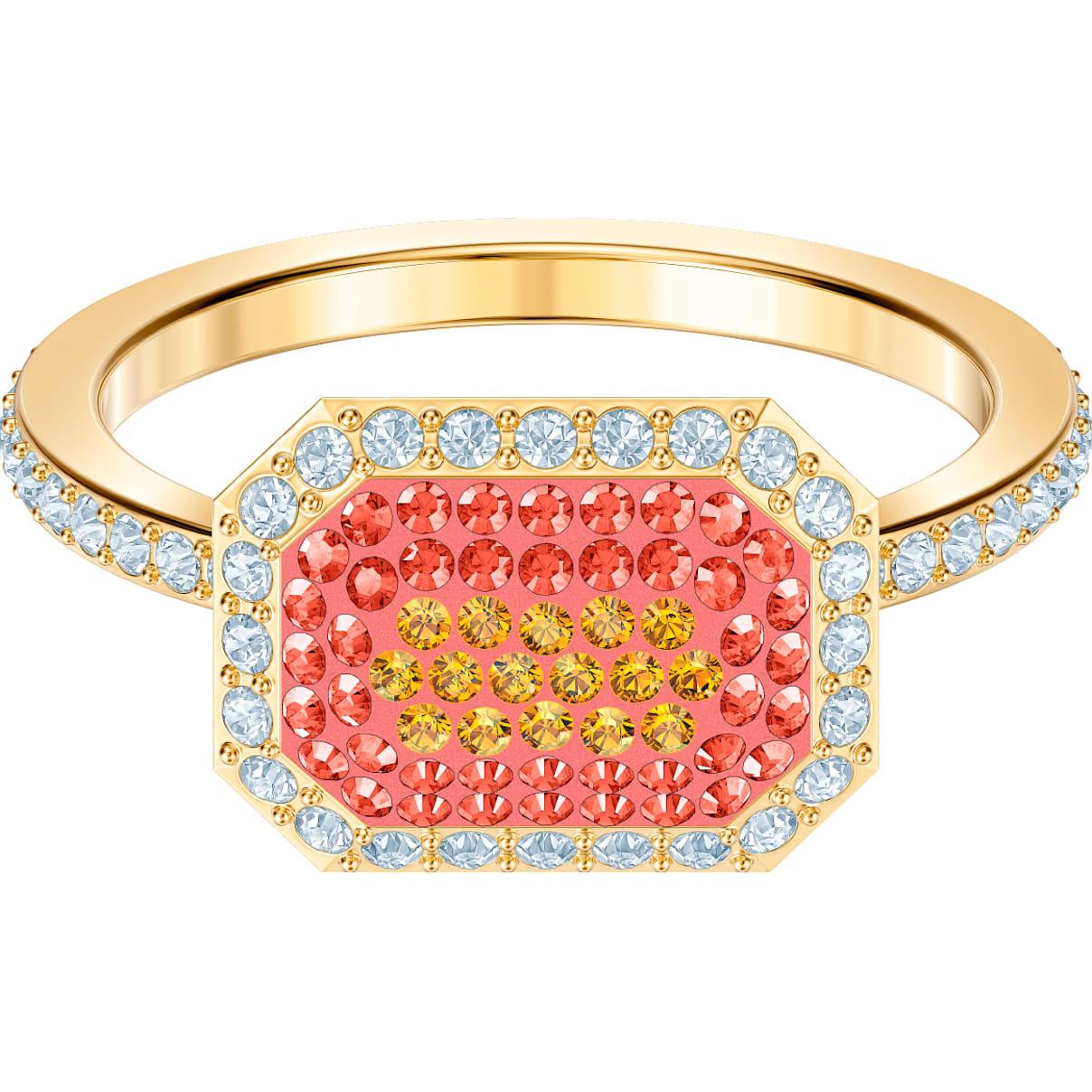 Swarovski No Regrets Ring, Multi-colored, Gold-tone plated