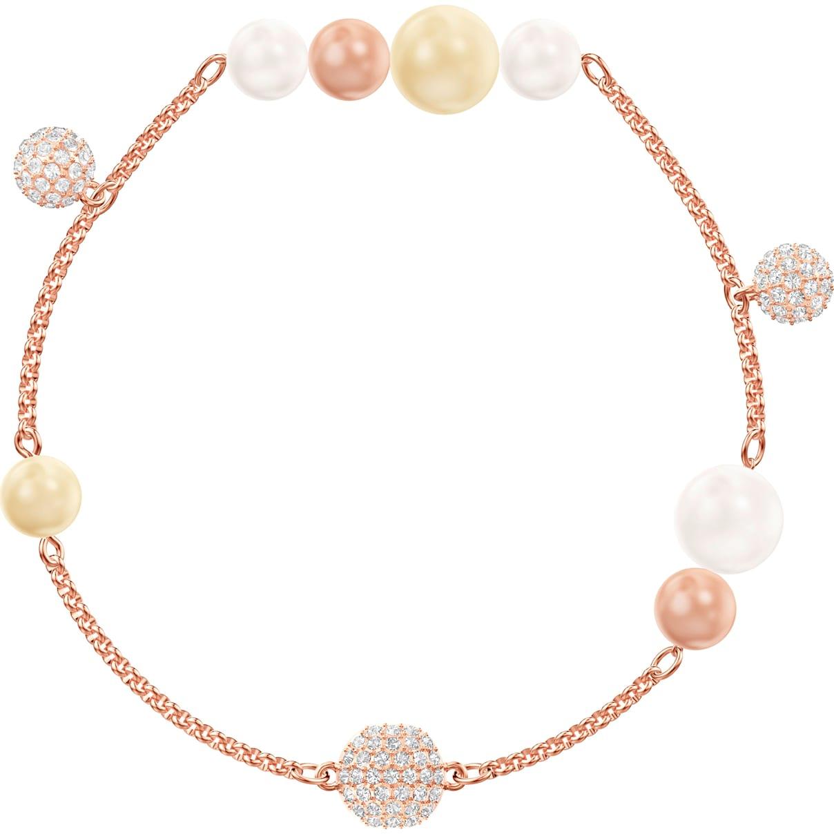 Swarovski Swarovski Remix Collection Pearl Strand, Multi-colored, Rose-gold tone plated