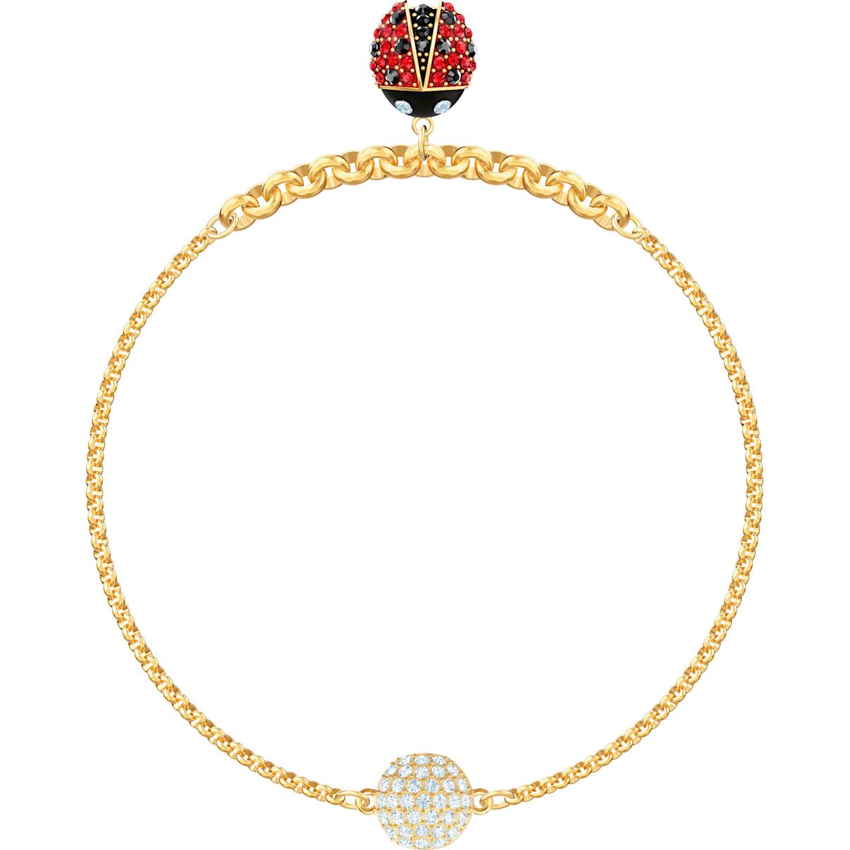 Swarovski Swarovski Remix Collection Ladybug Strand, Multi-colored, Gold-tone plated