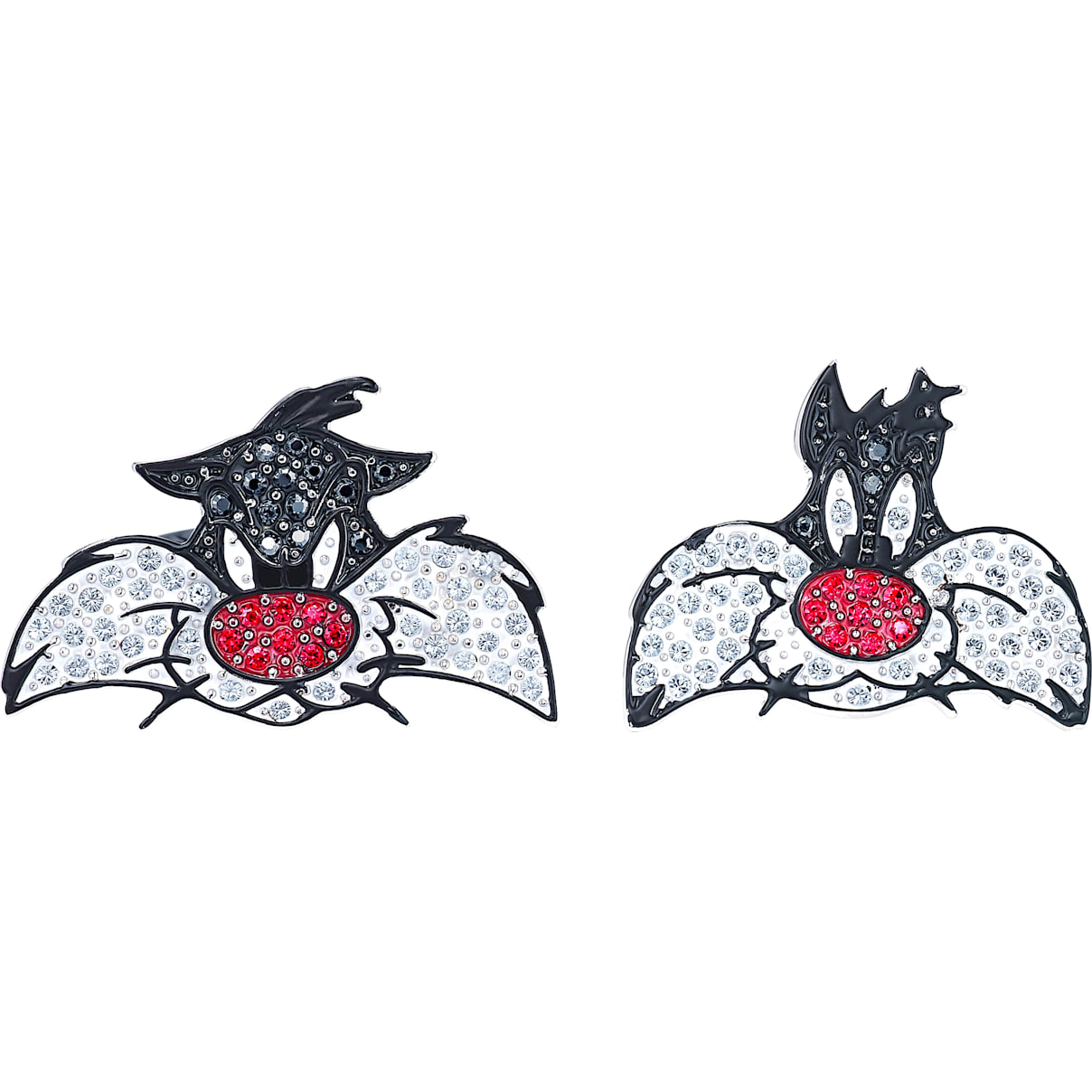 Swarovski Looney Tunes Sylvester Cuff Links, Multi-colored, Rhodium plated