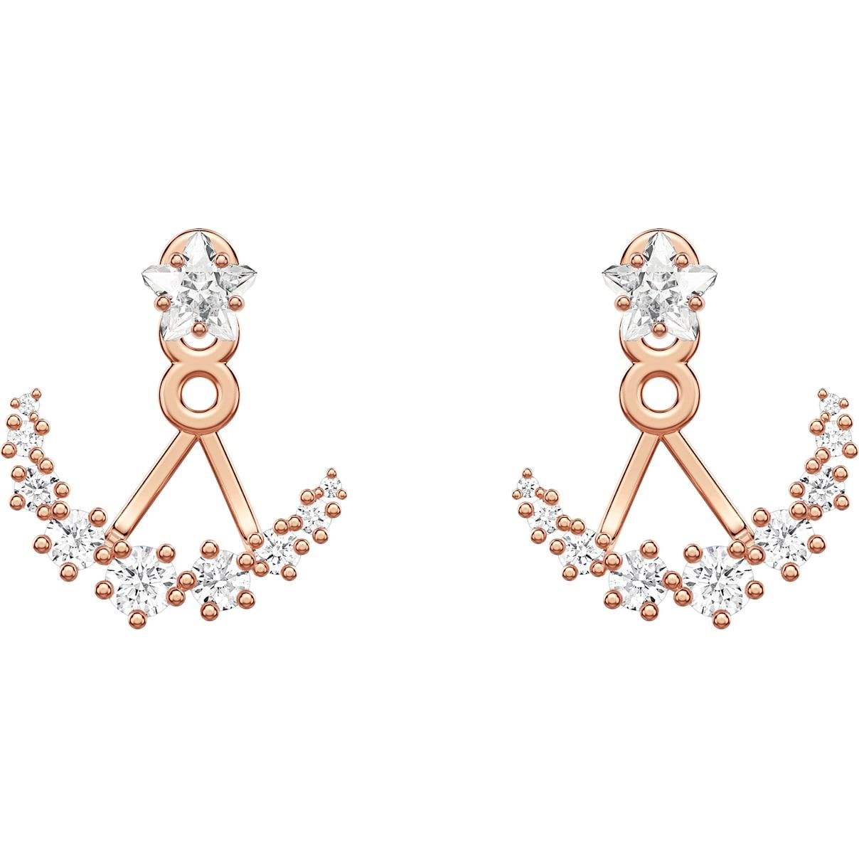 Swarovski Penélope Cruz Moonsun Pierced Earring Jackets, White, Rose-gold tone plated