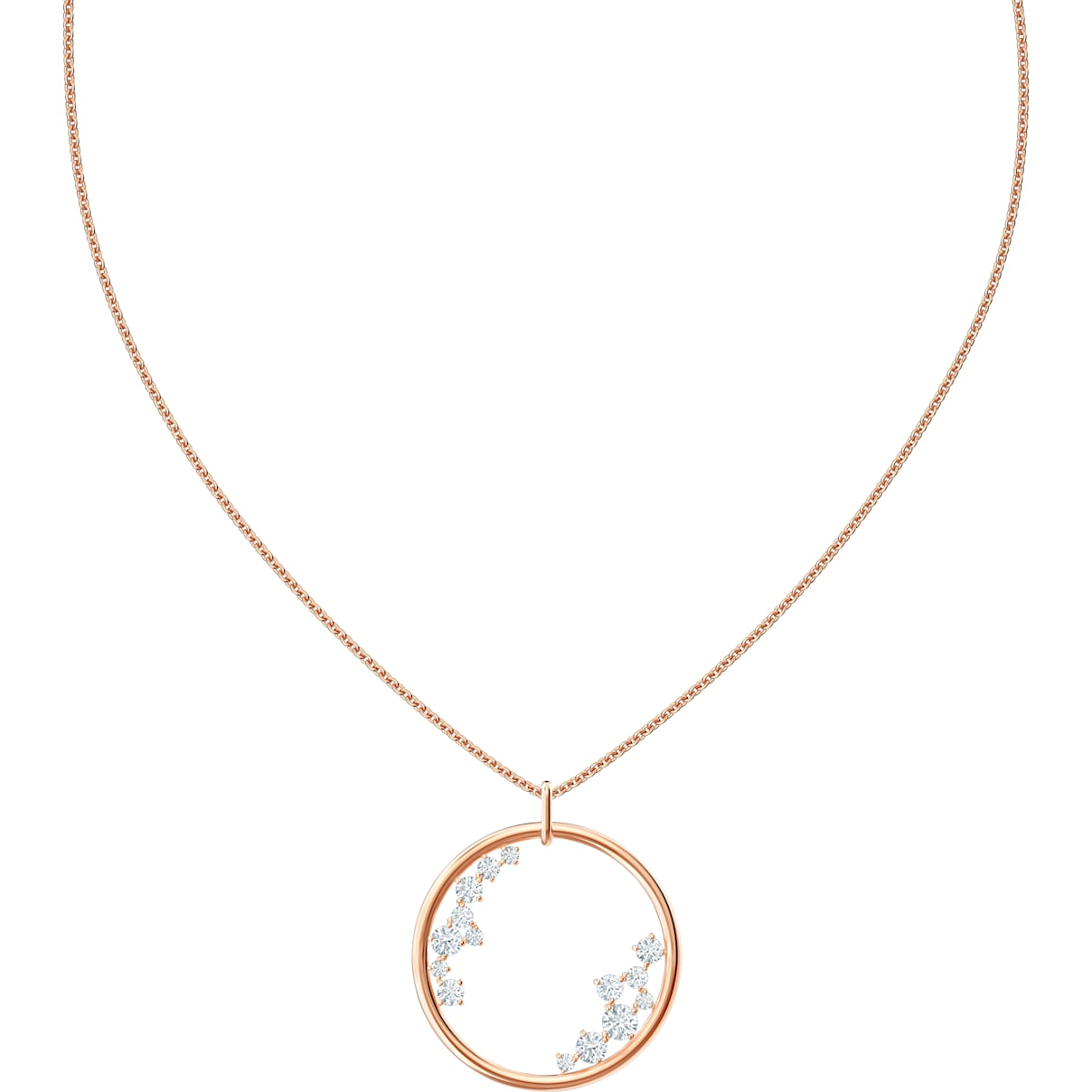 Swarovski North Pendant, White, Rose-gold tone plated