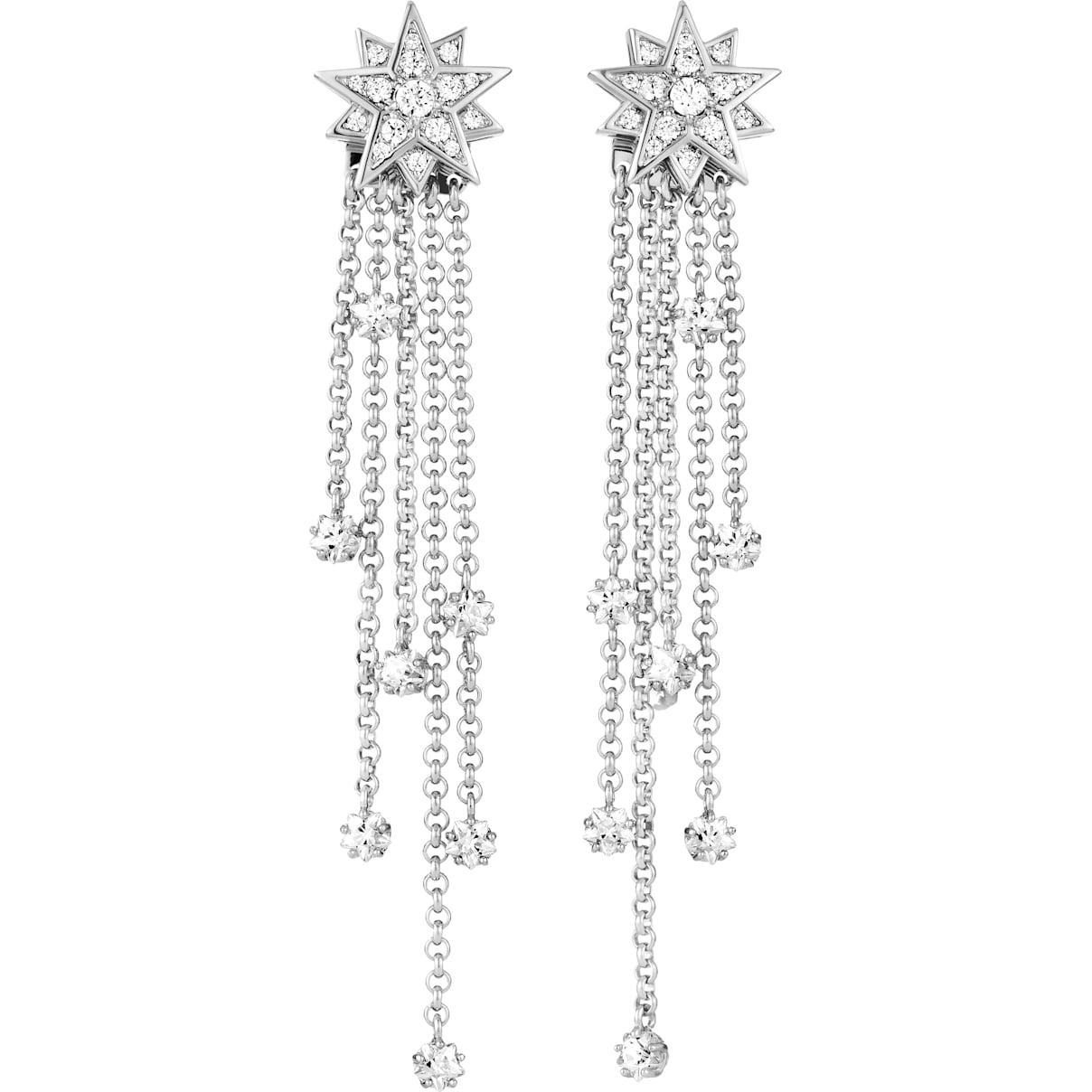 Swarovski Penélope Cruz Moonsun Strand Pierced Earrings, Limited Edition, White, Rhodium plated