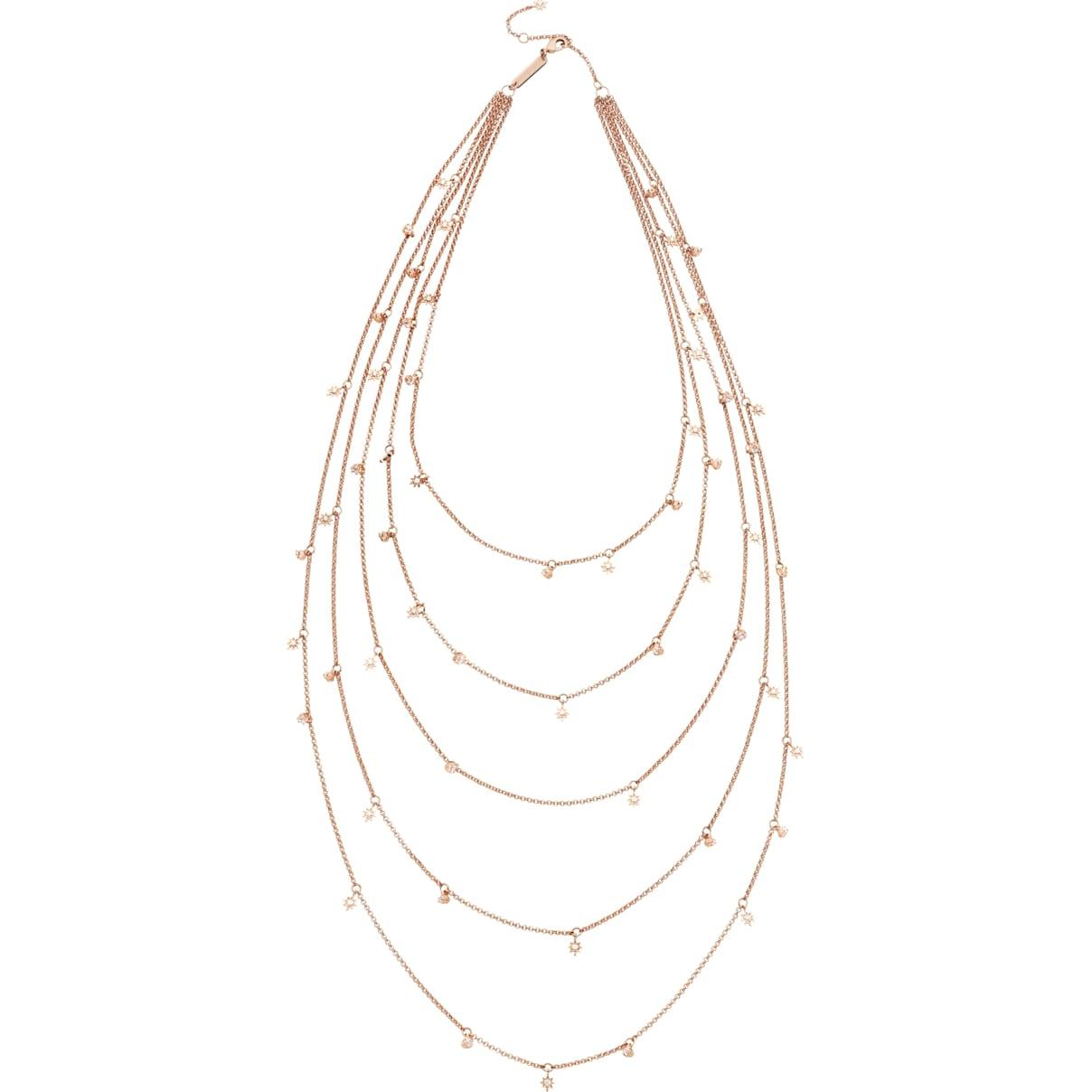Swarovski Penélope Cruz Moonsun Multi Strandage, Limited Edition, White, Rose-gold tone plated