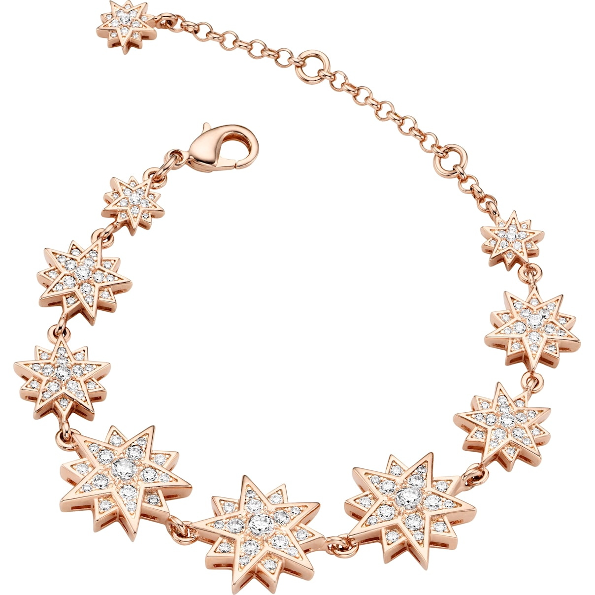Swarovski Penélope Cruz Moonsun Bracelet, Limited Edition, White, Rose-gold tone plated
