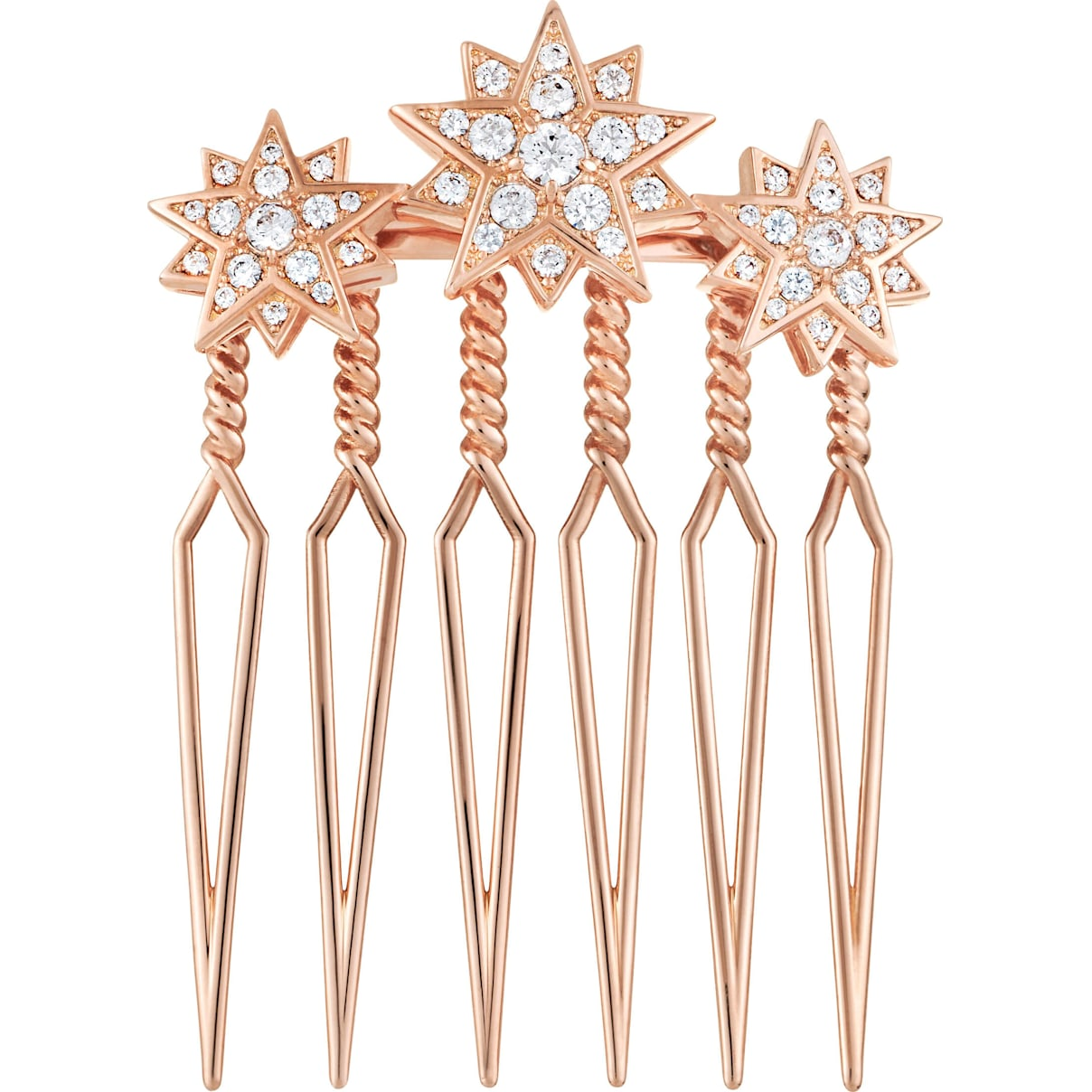 Swarovski Penélope Cruz Moonsun Limited Edition Hair Pin, White, Rose gold plating