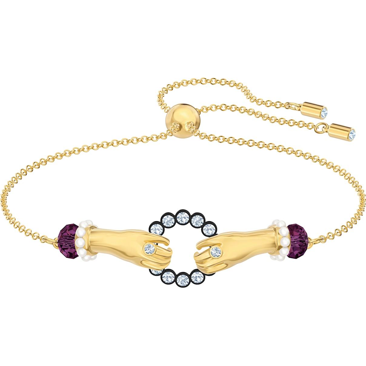 Swarovski Tarot Magic Bracelet, Multi-colored, Gold-tone plated