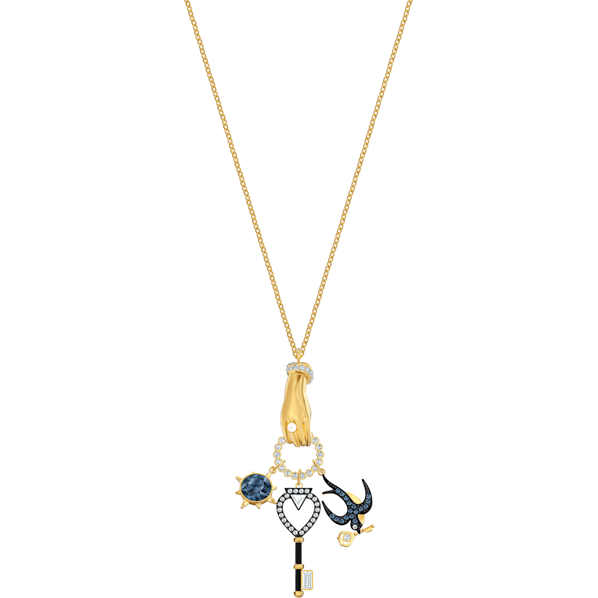 Swarovski Tarot Magic Charm Pendant, Multi-colored, Gold-tone plated
