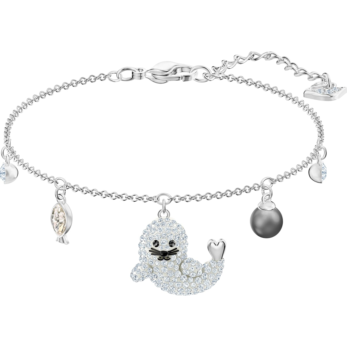 Swarovski Polar Bracelet, Multi-colored, Rhodium plated