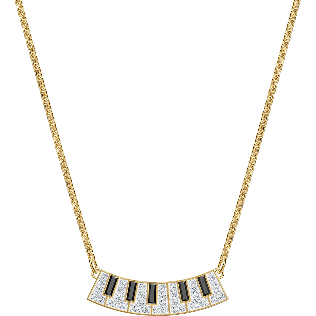 Swarovski Pleasant Piano Necklace, Multi-colored, Gold-tone plated