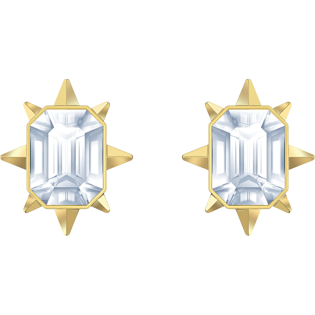 Swarovski Tarot Magic Stud Pierced Earrings, White, Gold-tone plated