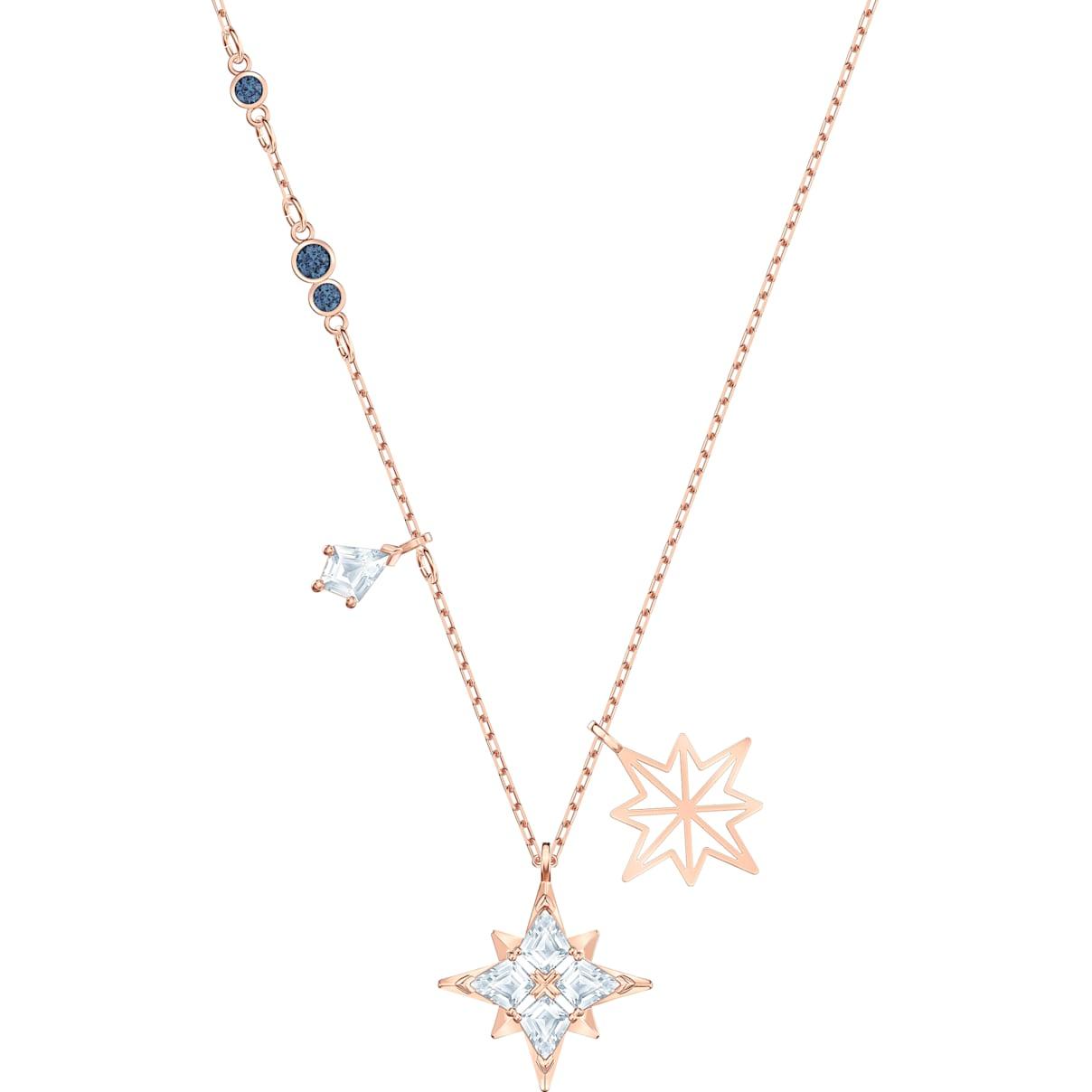 Swarovski Swarovski Symbolic Star Pendant, White, Rose-gold tone plated