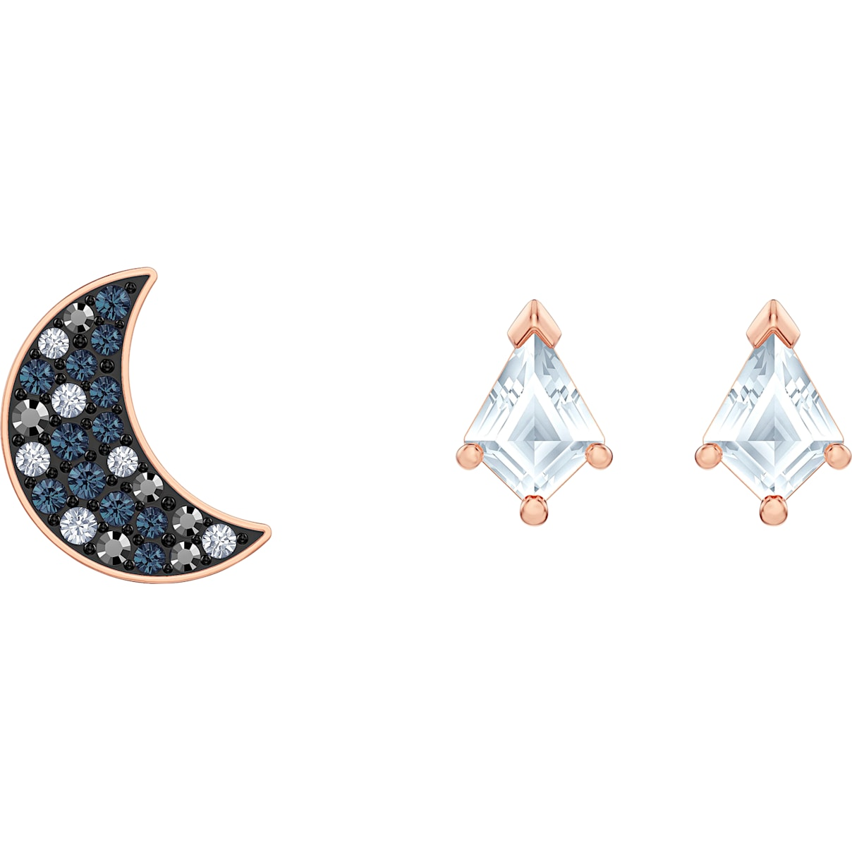Swarovski Swarovski Symbolic Pierced Earrings set, Multi-colored, Rose-gold tone plated